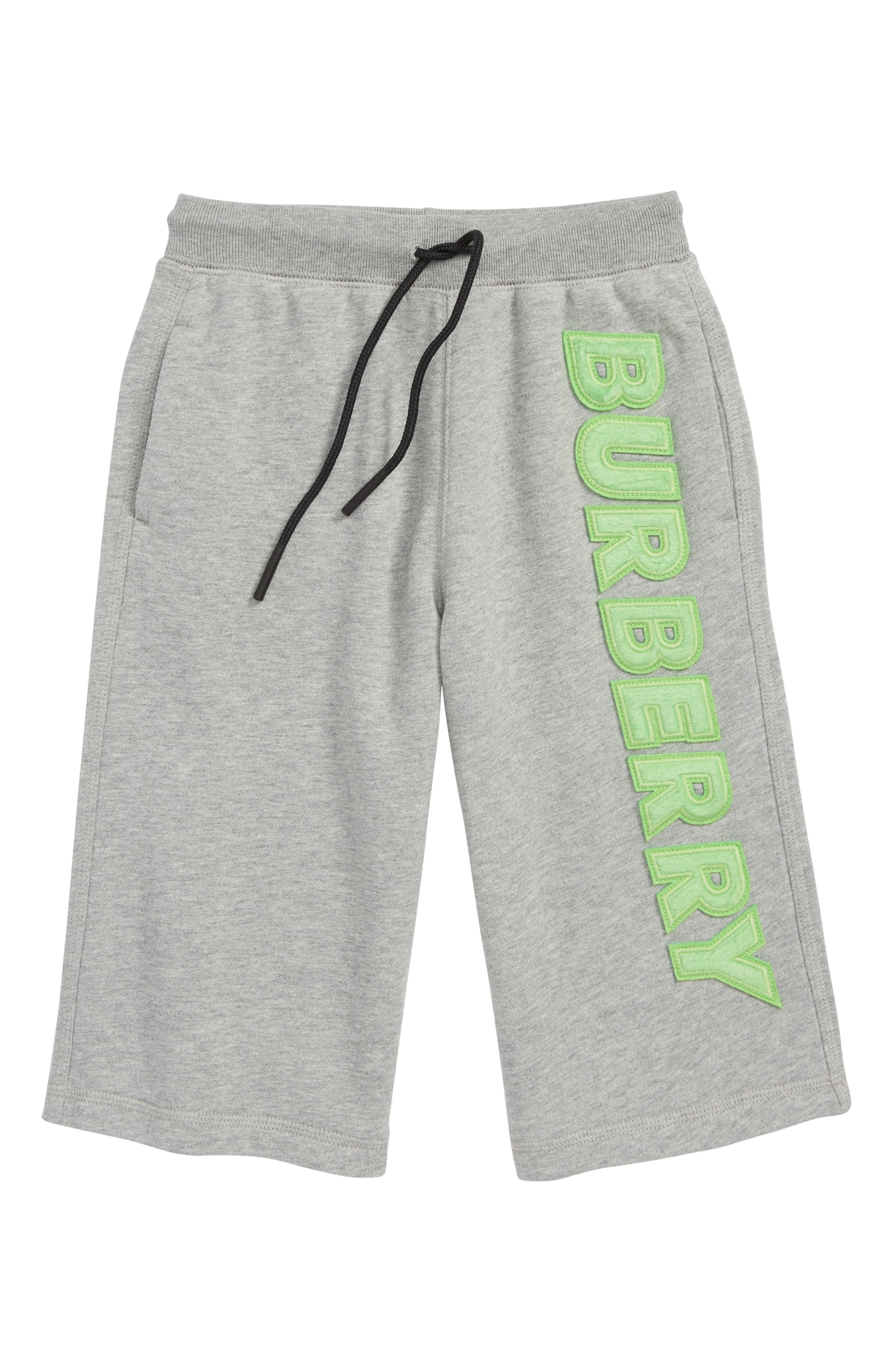 Knit Shorts,                             Main thumbnail 1, color,                             GREY MELANGE