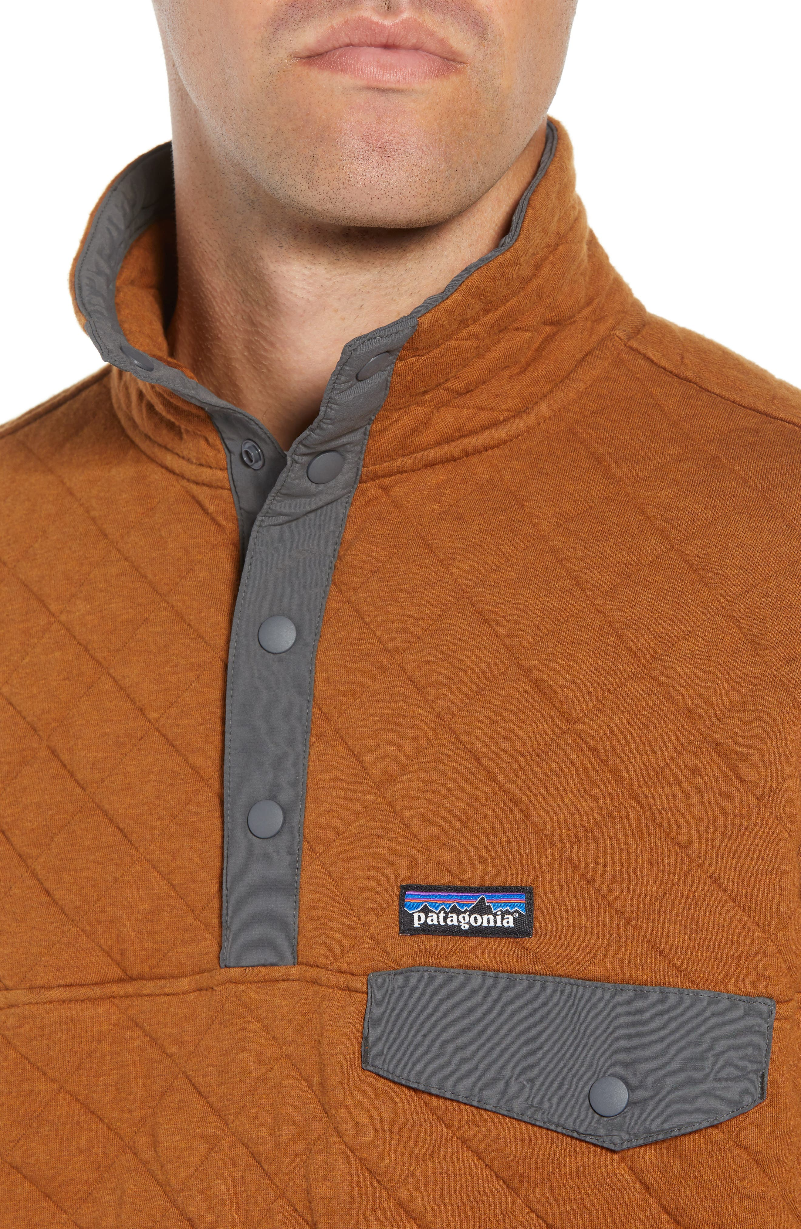 Snap-T<sup>®</sup> Quilted Fleece Pullover,                             Alternate thumbnail 4, color,                             BENCE BROWN