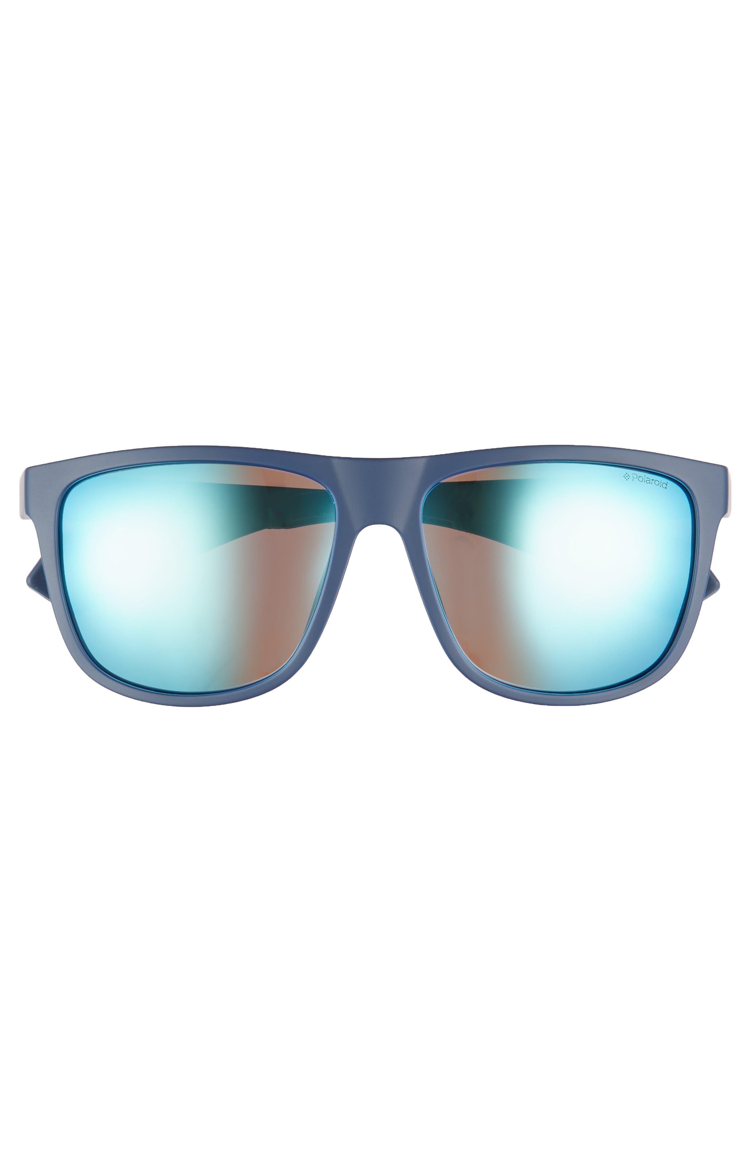 Plastic Core 57mm Polarized Sunglasses,                             Alternate thumbnail 2, color,                             BLUE