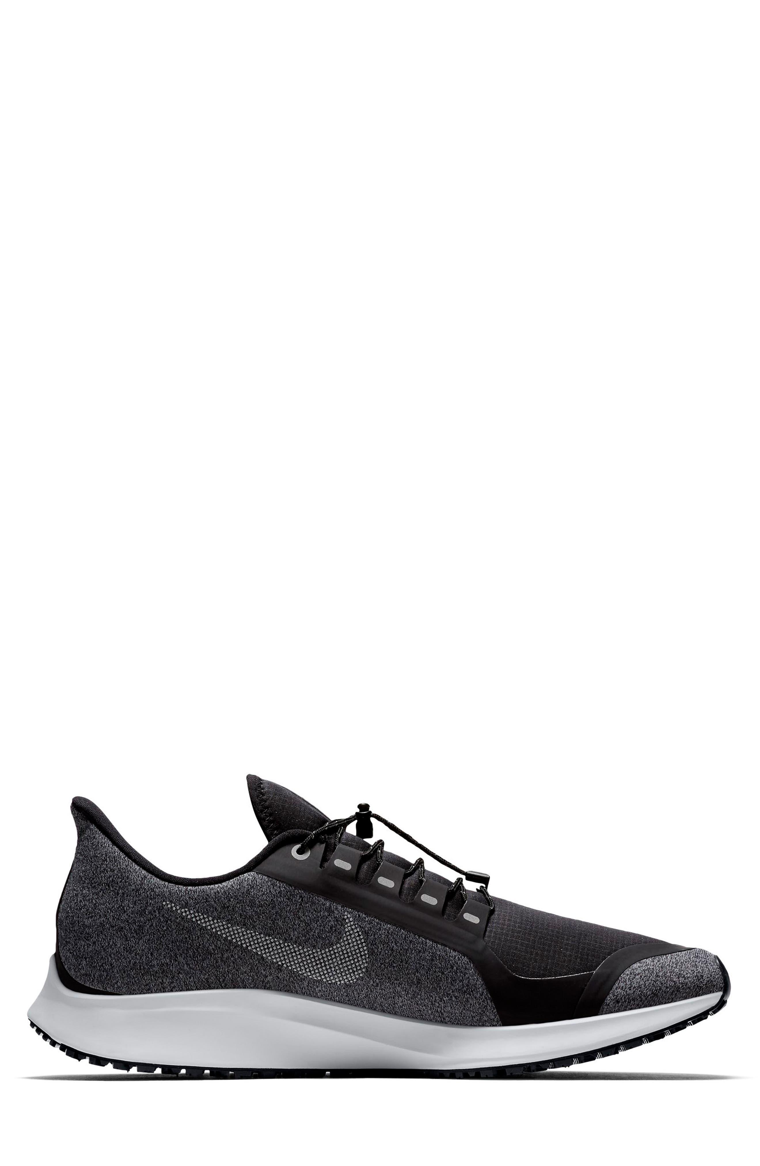 Air Zoom Pegasus 35 Shield Water Repellent Running Shoe,                             Alternate thumbnail 2, color,                             BLACK/ WHITE/ COOL GREY
