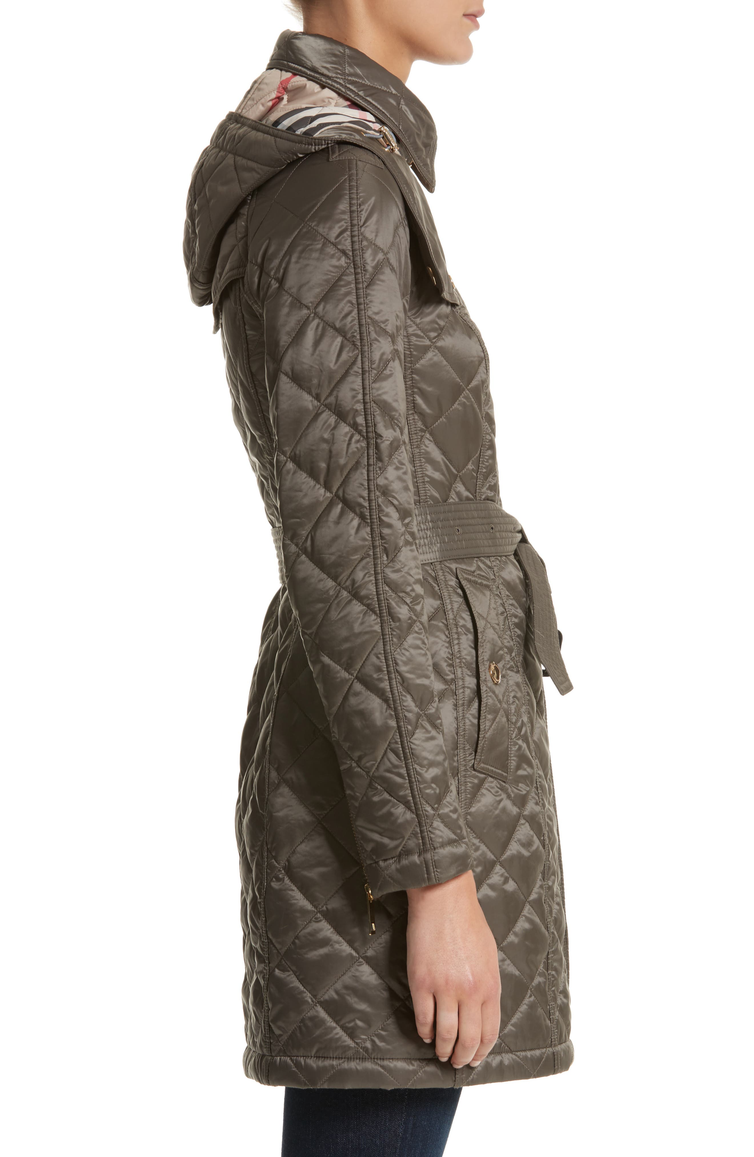 Baughton Quilted Coat,                             Alternate thumbnail 3, color,                             MINK GREY