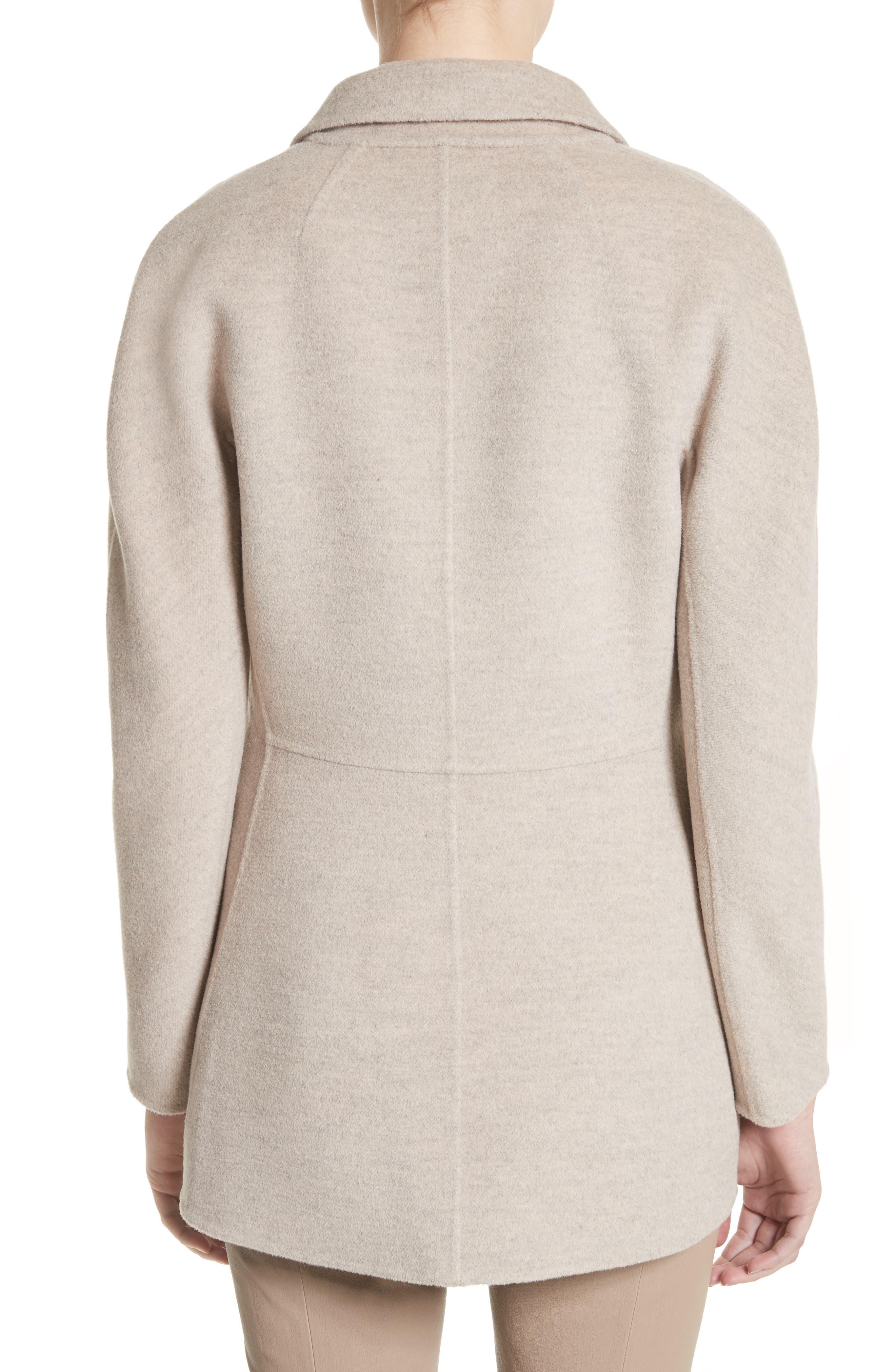 Double Face Wool, Angora & Cashmere Blend Blazer,                             Alternate thumbnail 2, color,                             205