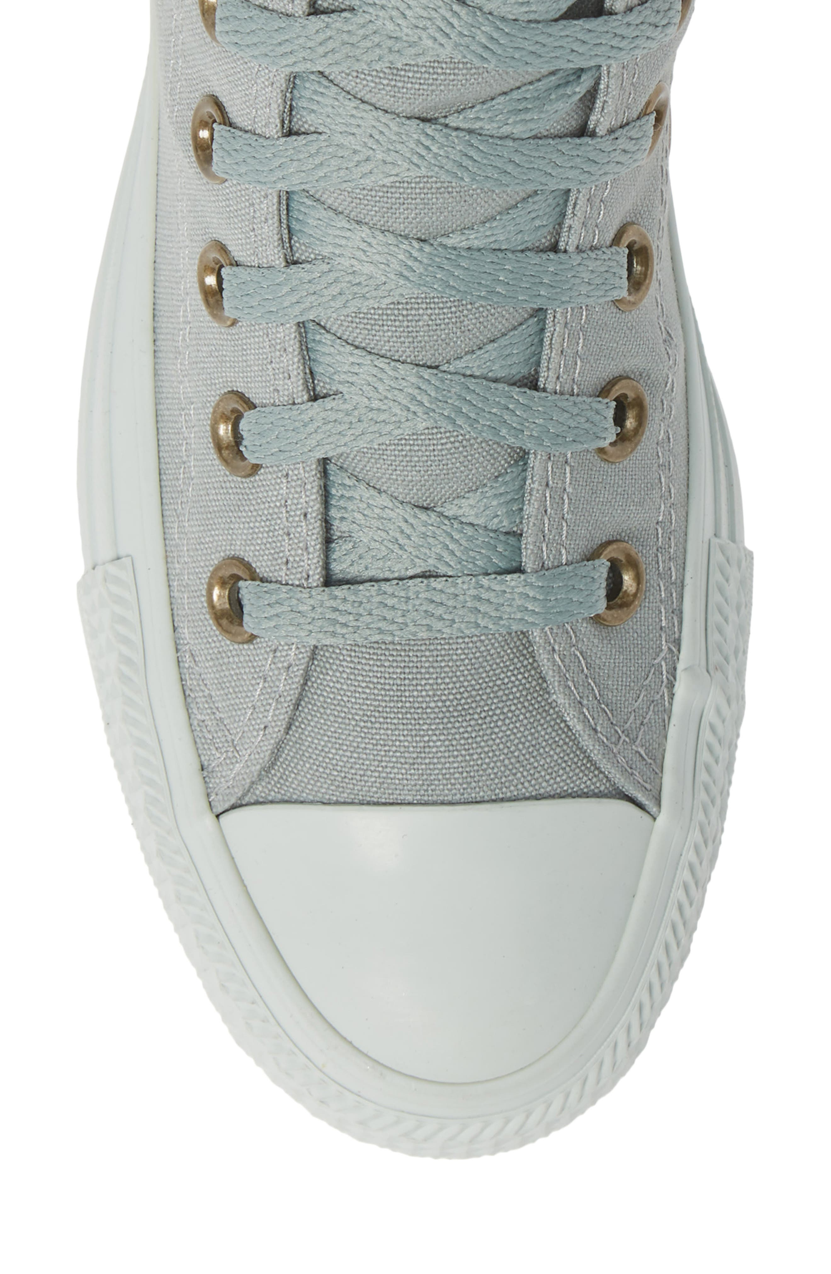 Chuck Taylor<sup>®</sup> All Star<sup>®</sup> Botanical High Top Sneaker,                             Alternate thumbnail 5, color,                             MICA GREEN