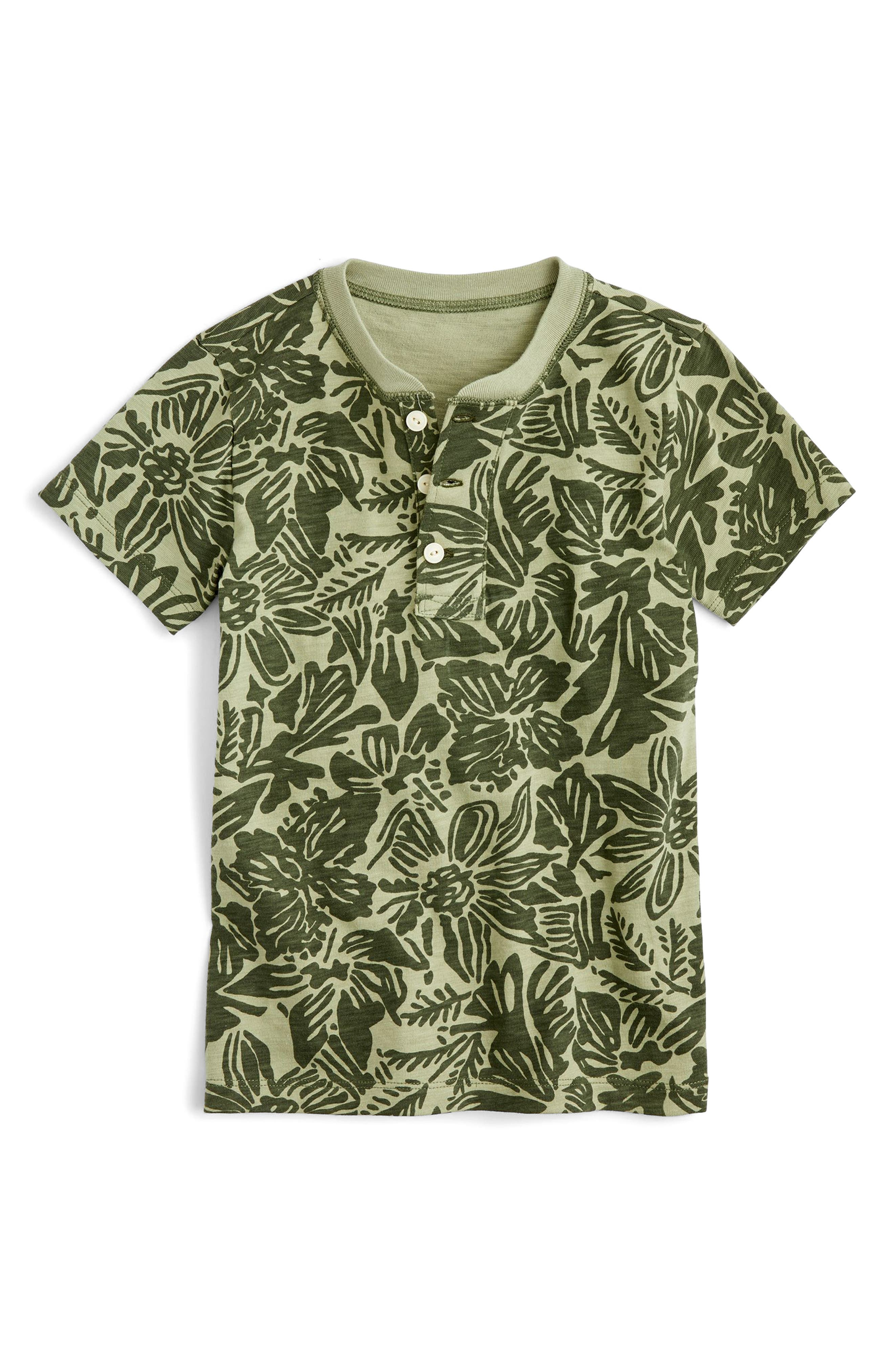 Tropical Print Henley,                         Main,                         color, 300