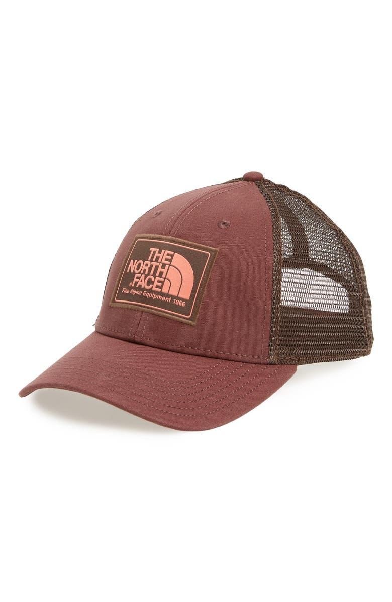 f9a153e4cc7 The North Face Mudder Trucker Hat In Urban Navy  Peyote Beige
