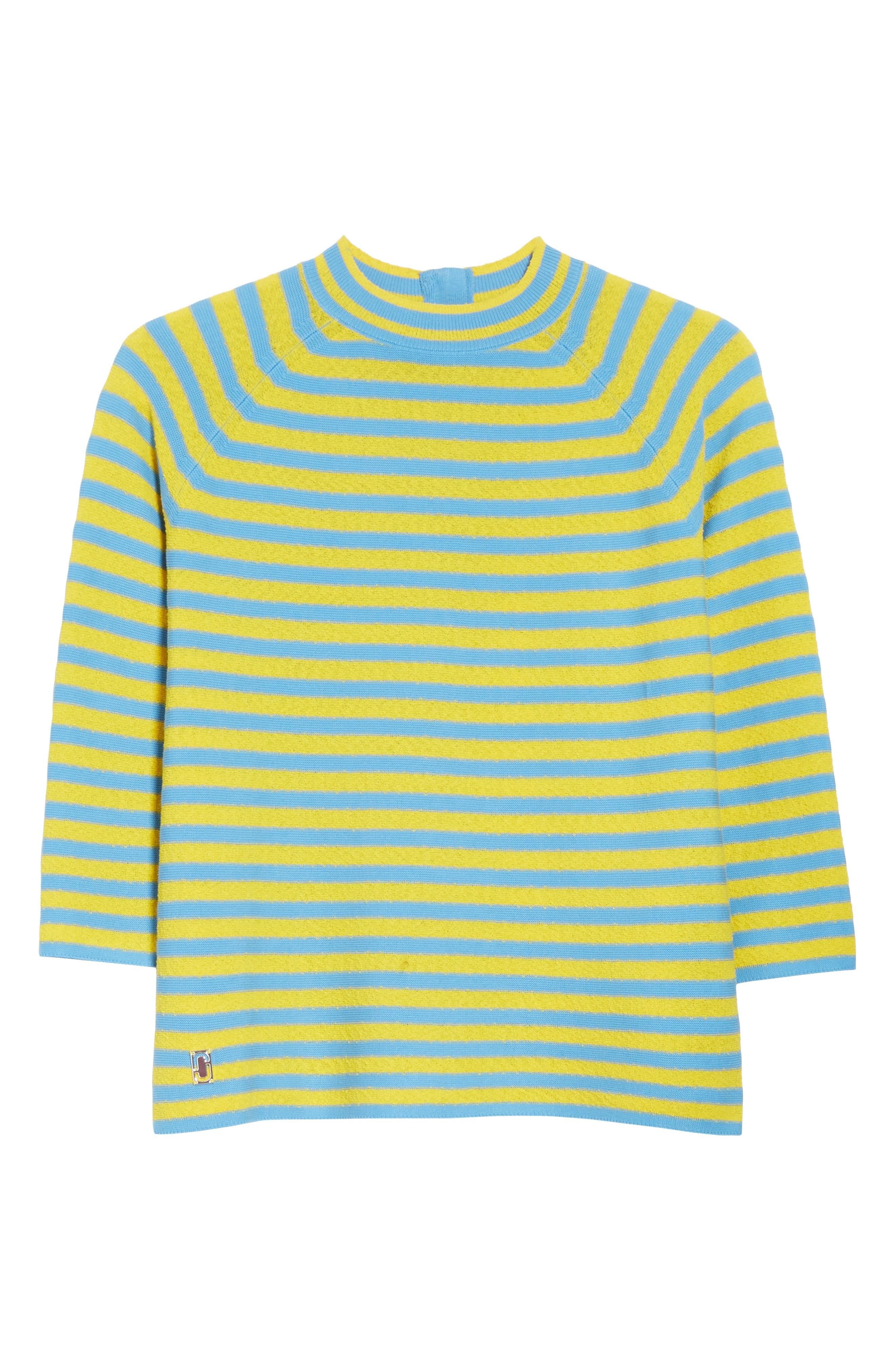 Stripe Mock Neck Sweater,                             Alternate thumbnail 12, color,