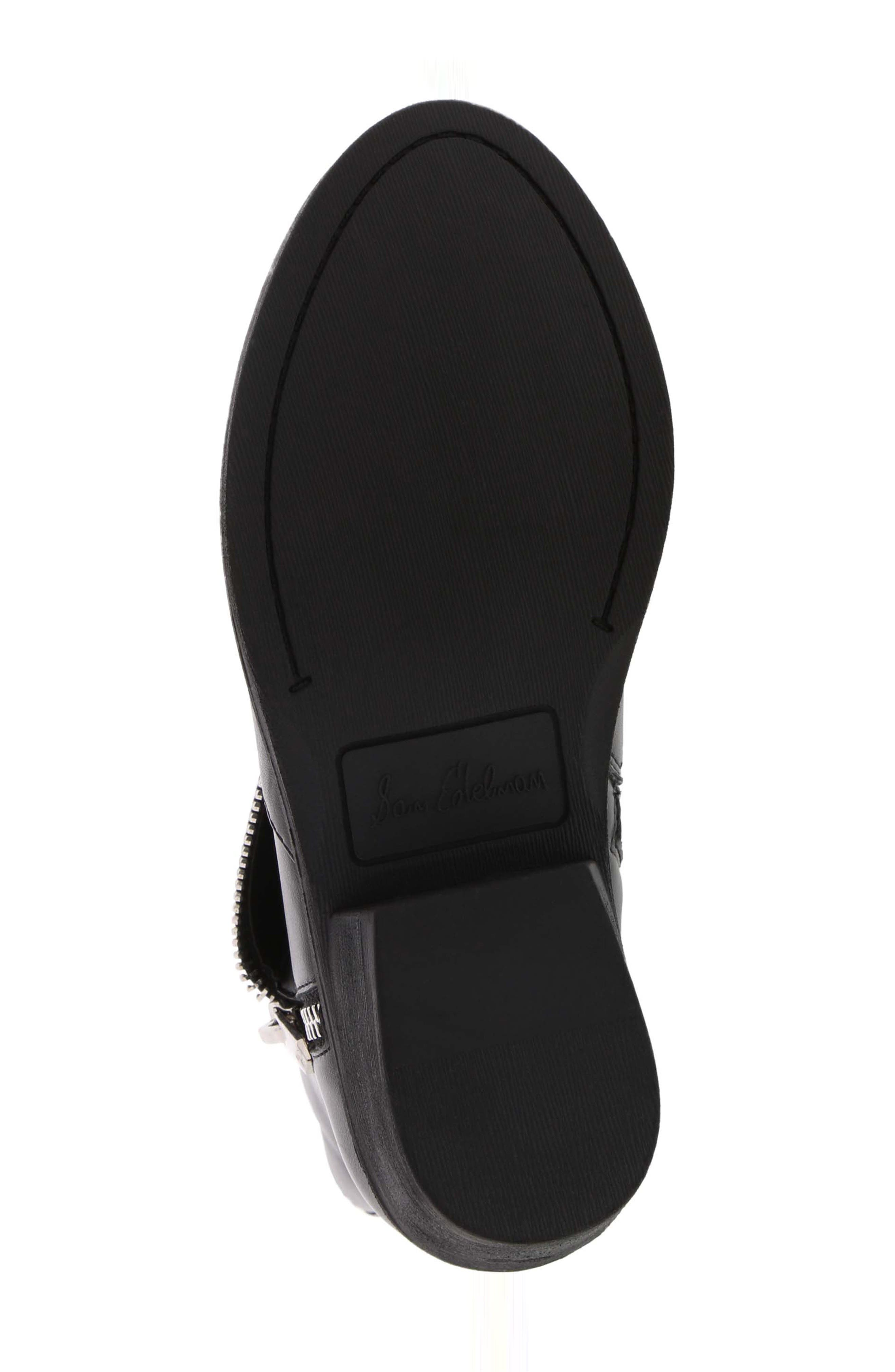 Becka Tessa Faux Leather Moto Boot,                             Alternate thumbnail 6, color,                             BLACK