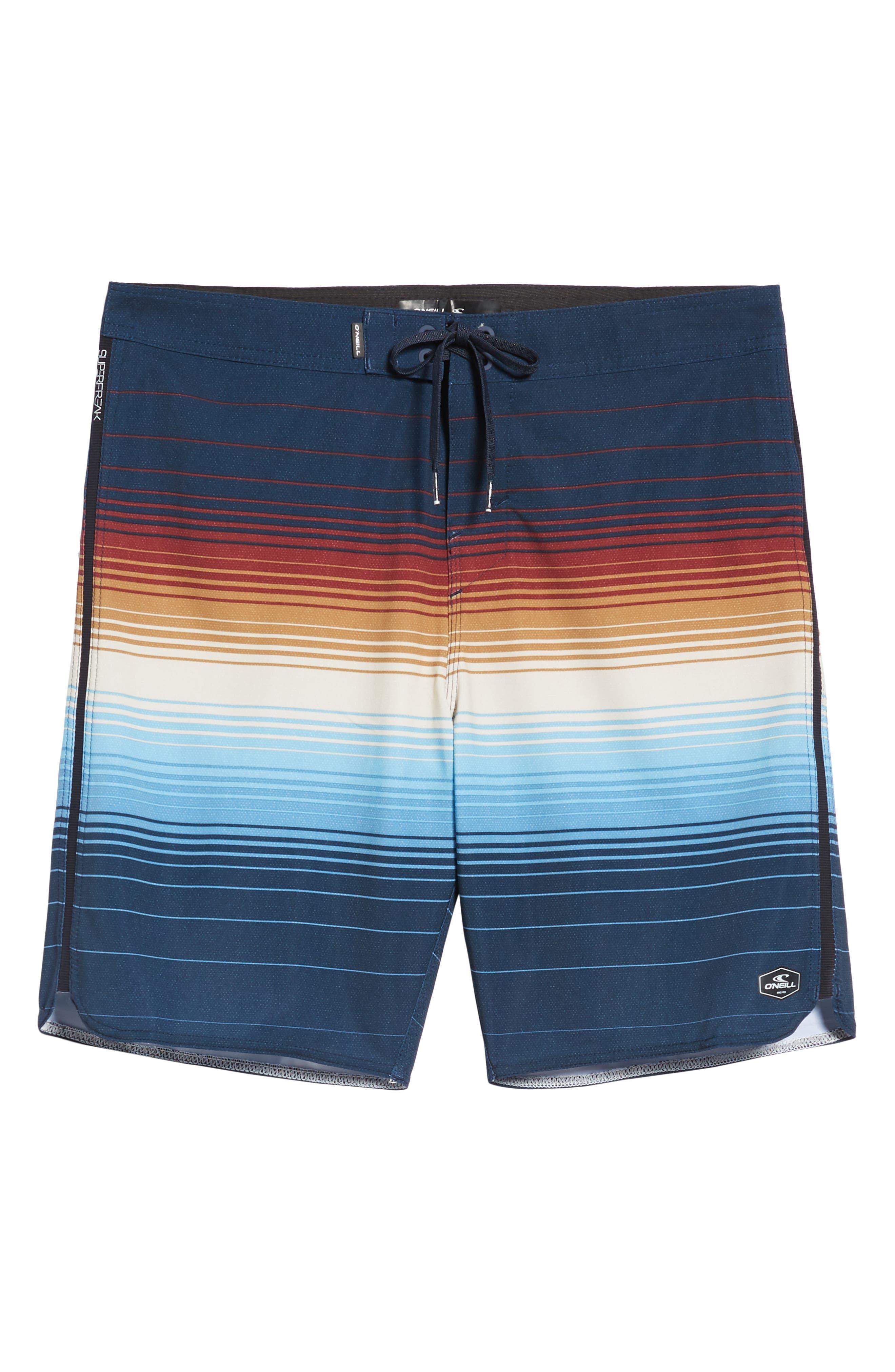 Superfreak Villa Board Shorts,                             Alternate thumbnail 6, color,                             NAVY