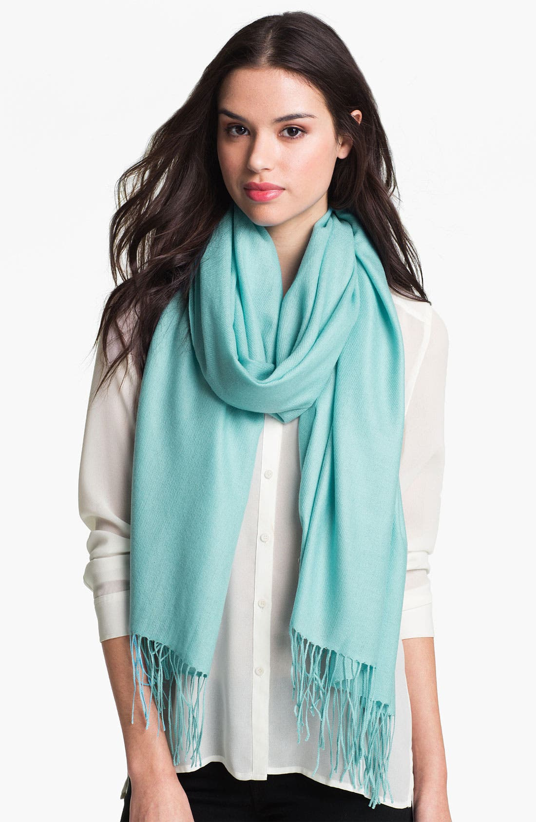 Tissue Weight Wool & Cashmere Wrap,                             Main thumbnail 74, color,