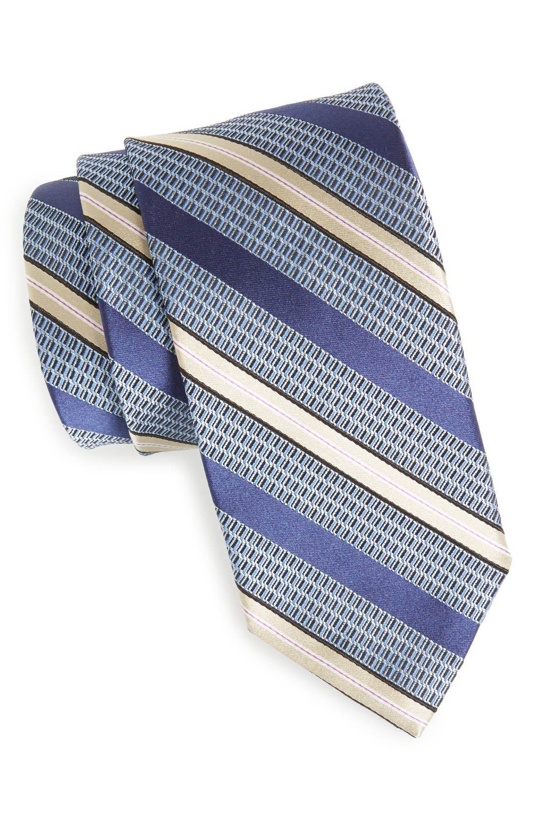 Woven Silk Tie,                             Main thumbnail 1, color,                             400
