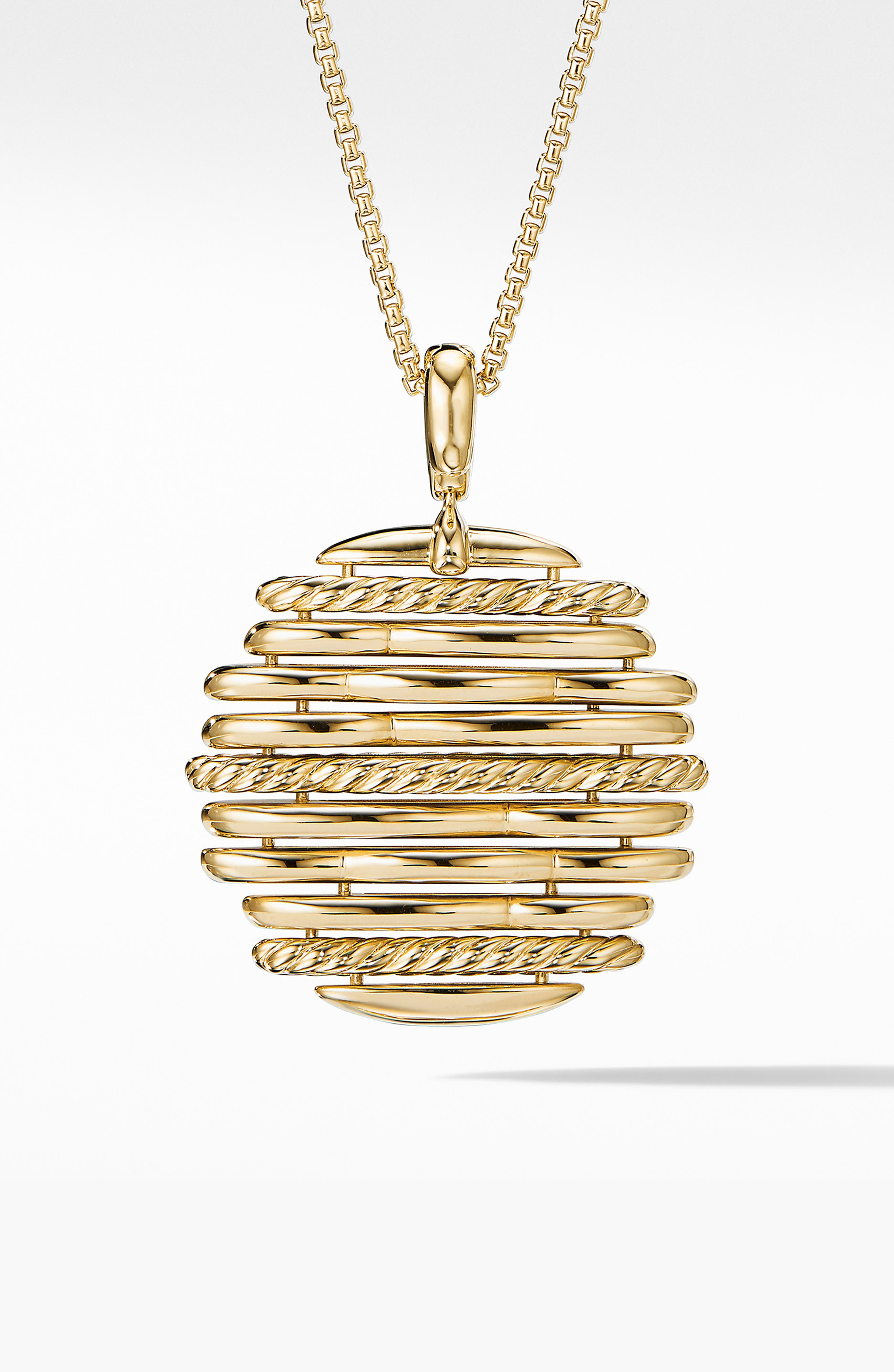 Tides Pendant Necklace in 18K Yellow Gold with Diamonds,                             Alternate thumbnail 3, color,                             GOLD/ DIAMOND