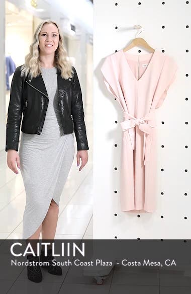 Ruffle Sleeve Sheath Dress, sales video thumbnail