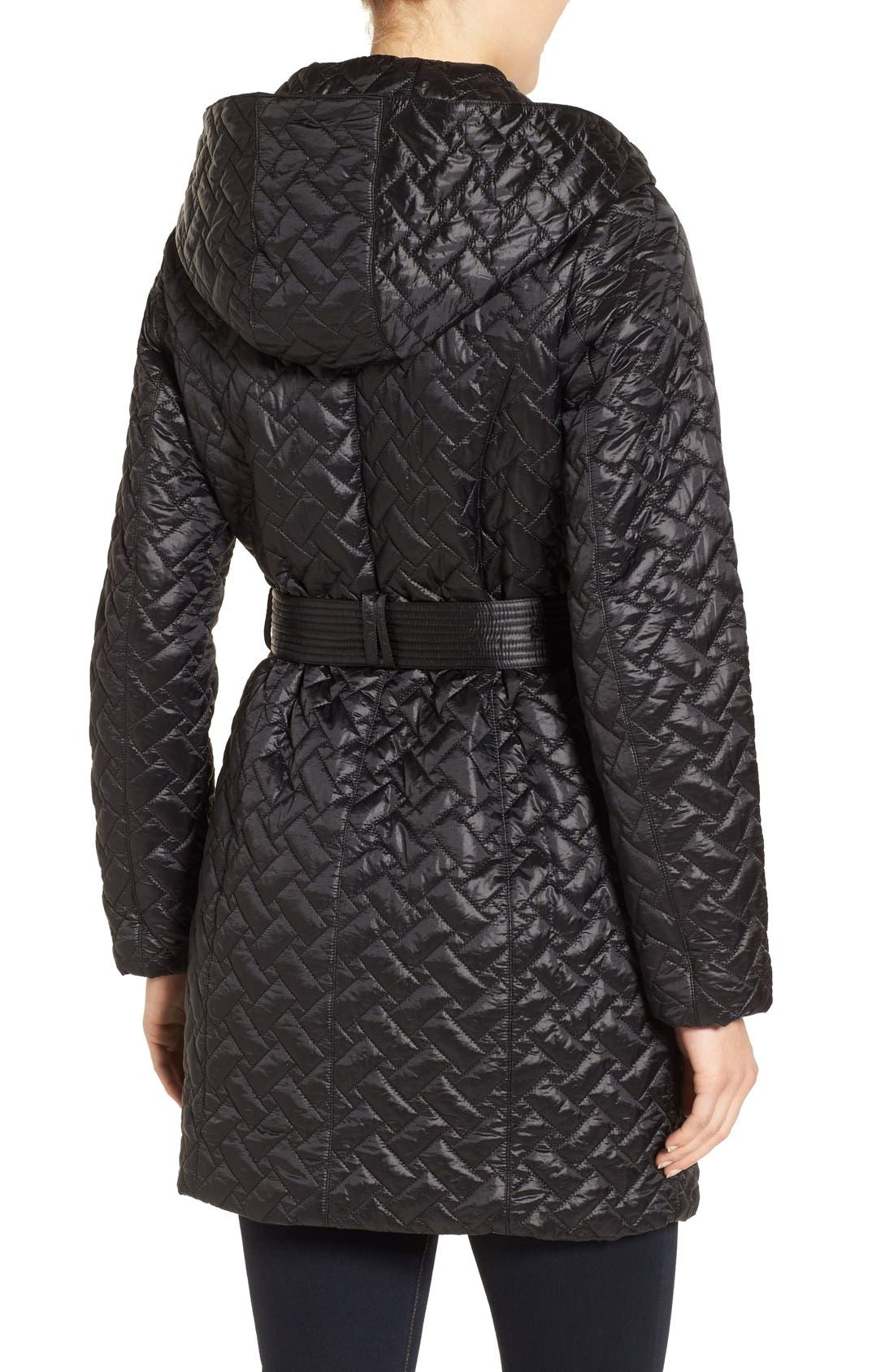 'Thermore' Water Repellent Quilted Coat,                             Alternate thumbnail 2, color,                             001