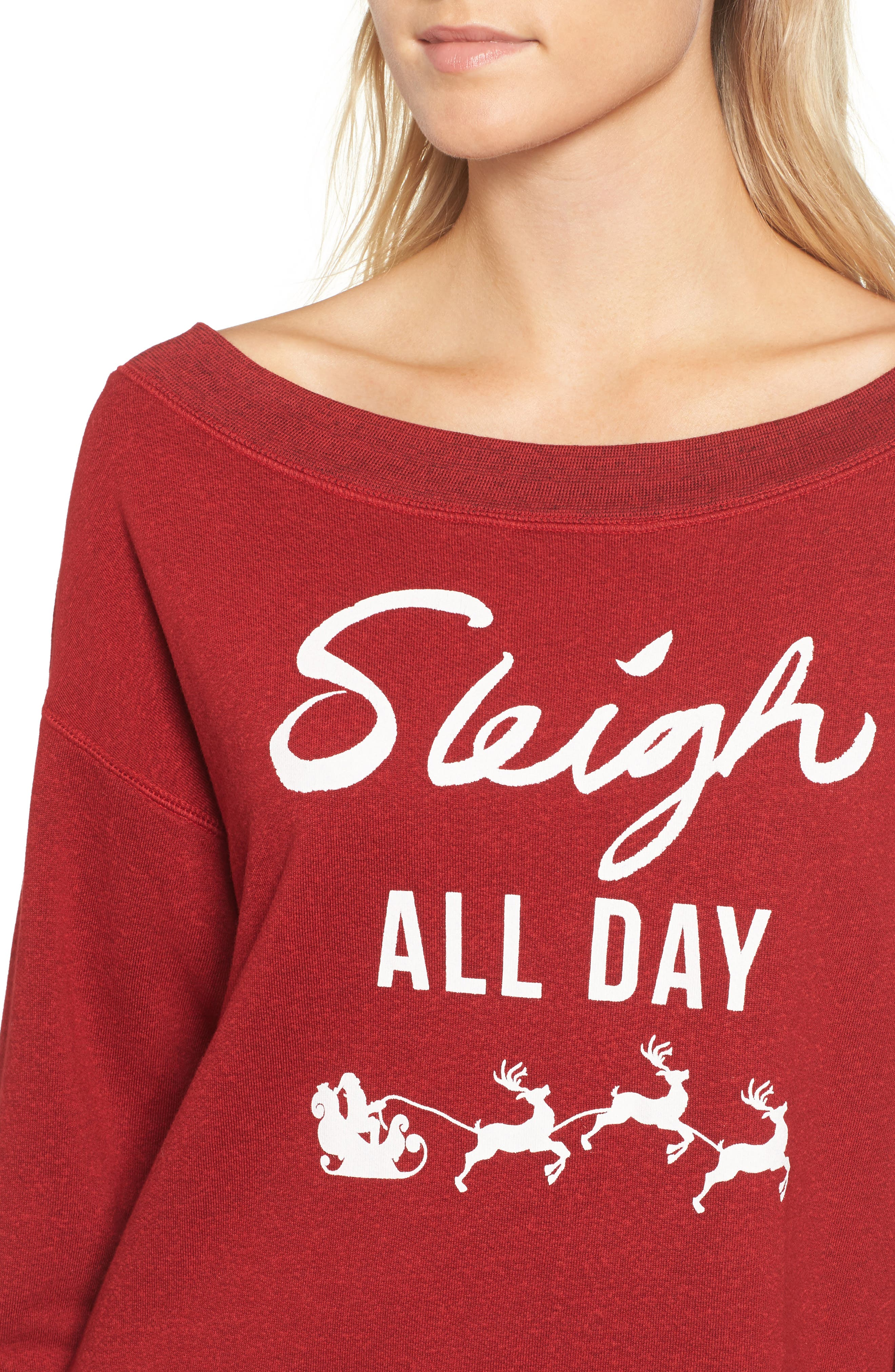 Sleigh All Day Sweatshirt,                             Alternate thumbnail 4, color,                             604