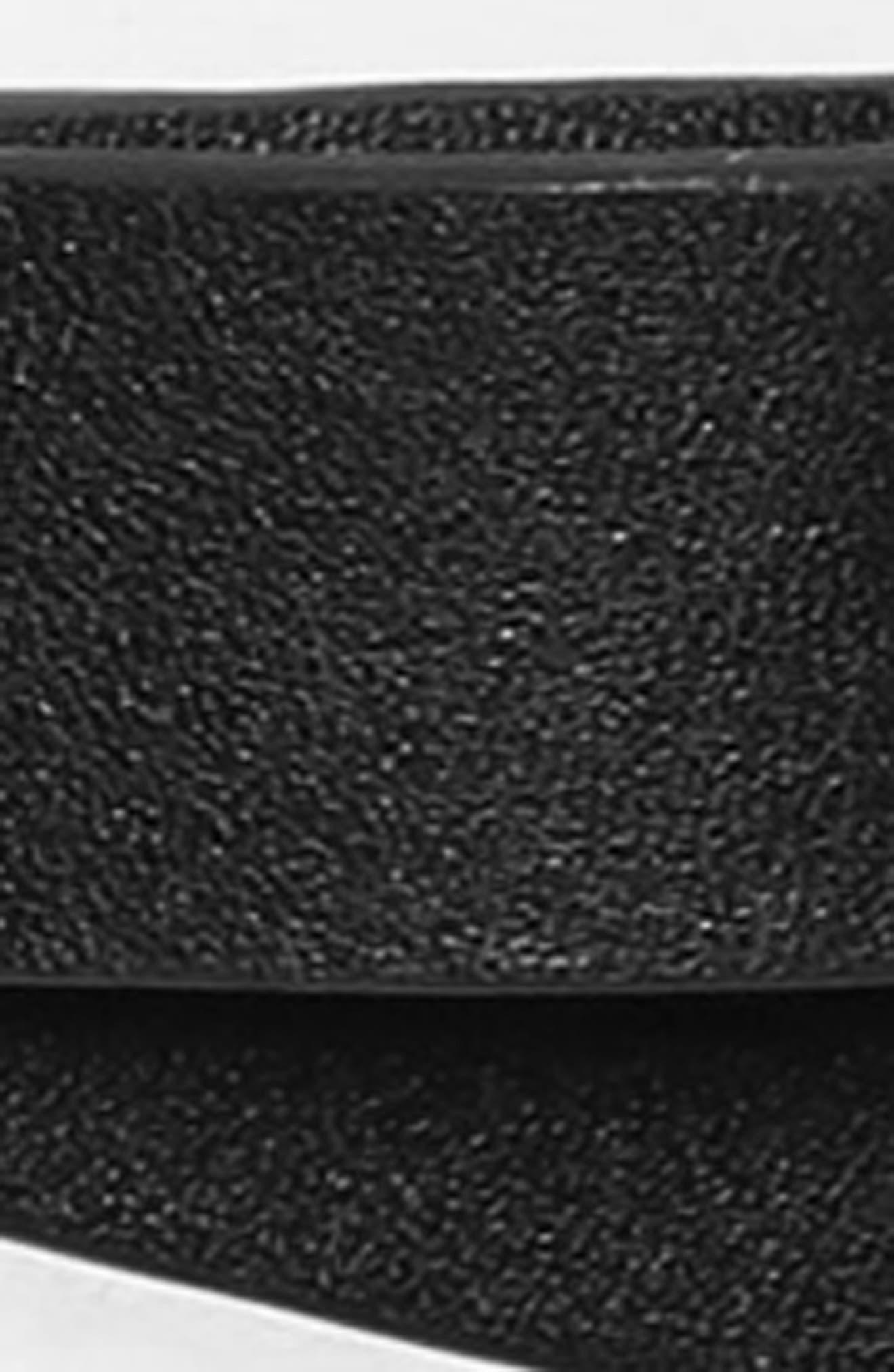 smooth bow belt,                             Alternate thumbnail 3, color,                             BLACK