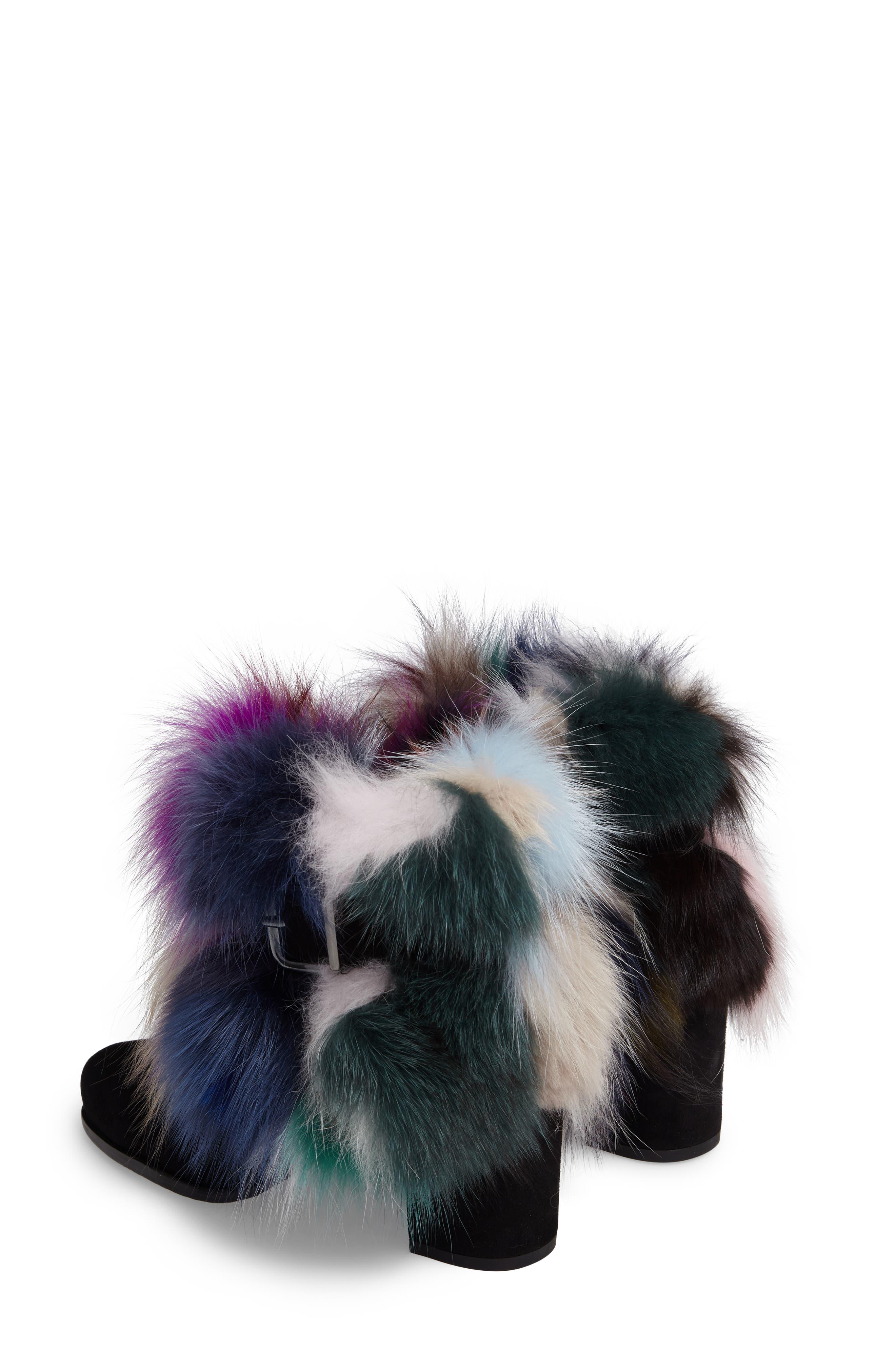 Midgofurit Genuine Fox Fur Bootie,                             Alternate thumbnail 2, color,                             001