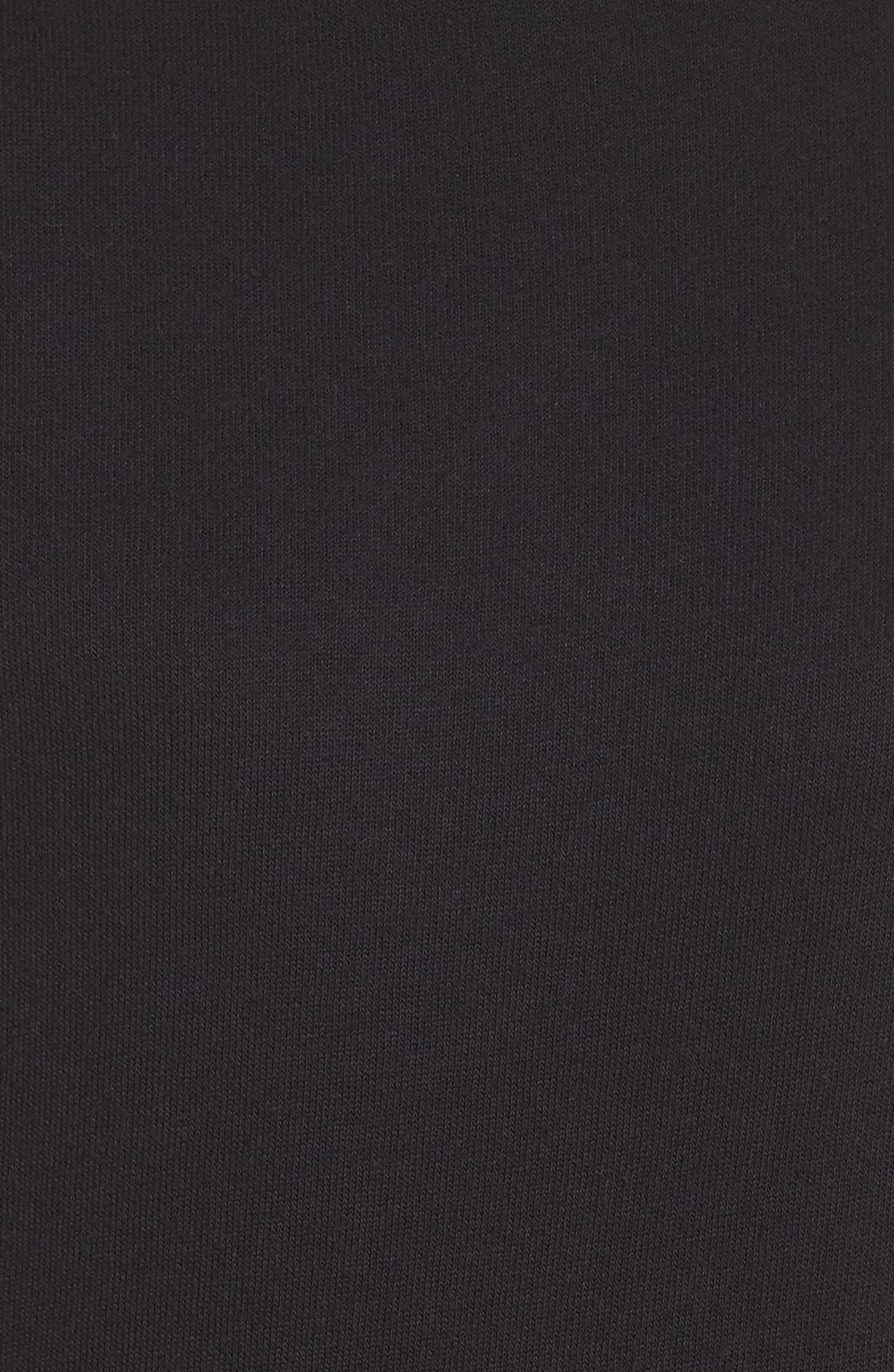 Hoodie Sweatshirt,                             Alternate thumbnail 5, color,                             BLACK