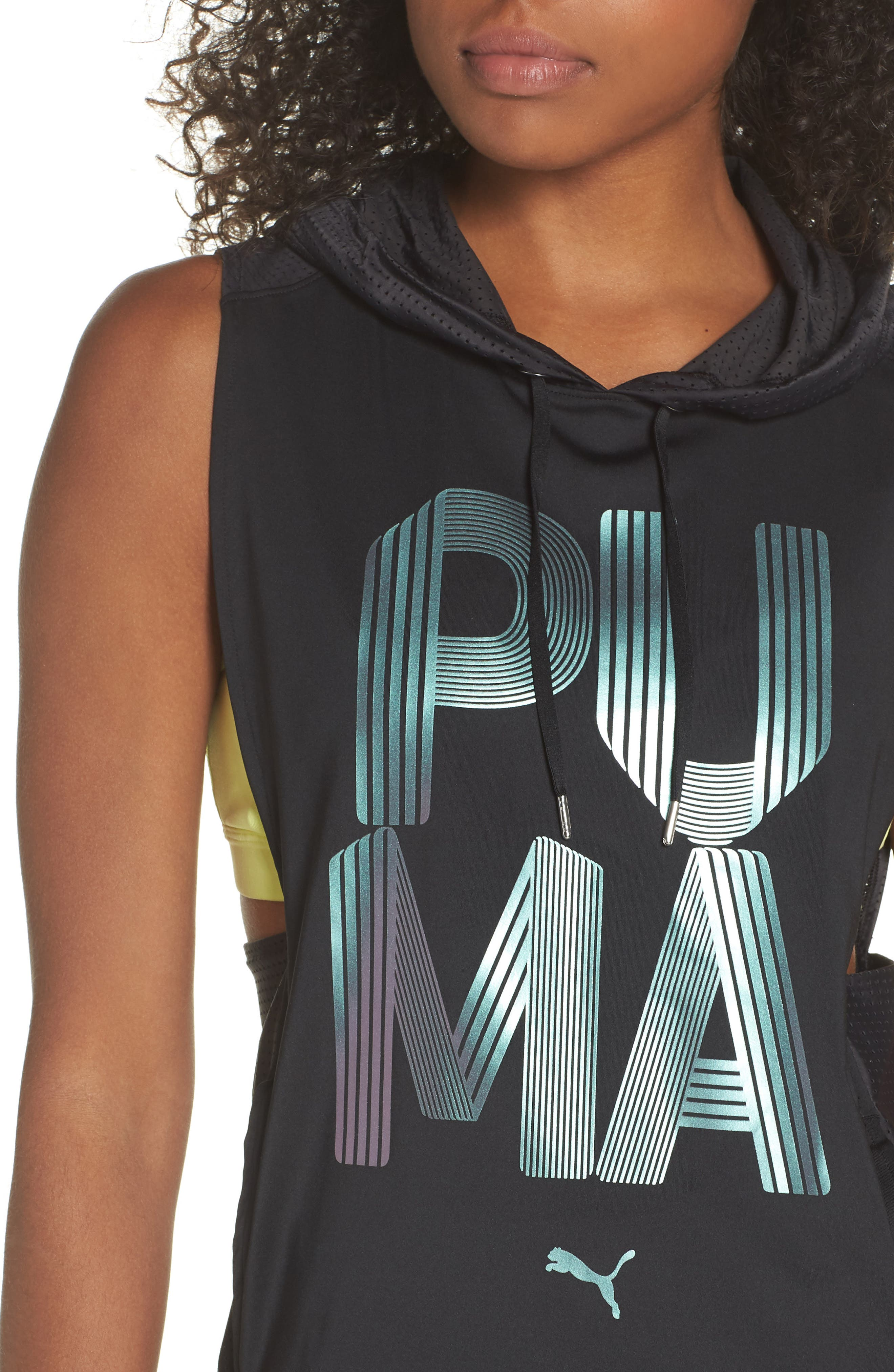Punch Sleeveless Hoodie,                             Alternate thumbnail 4, color,                             003