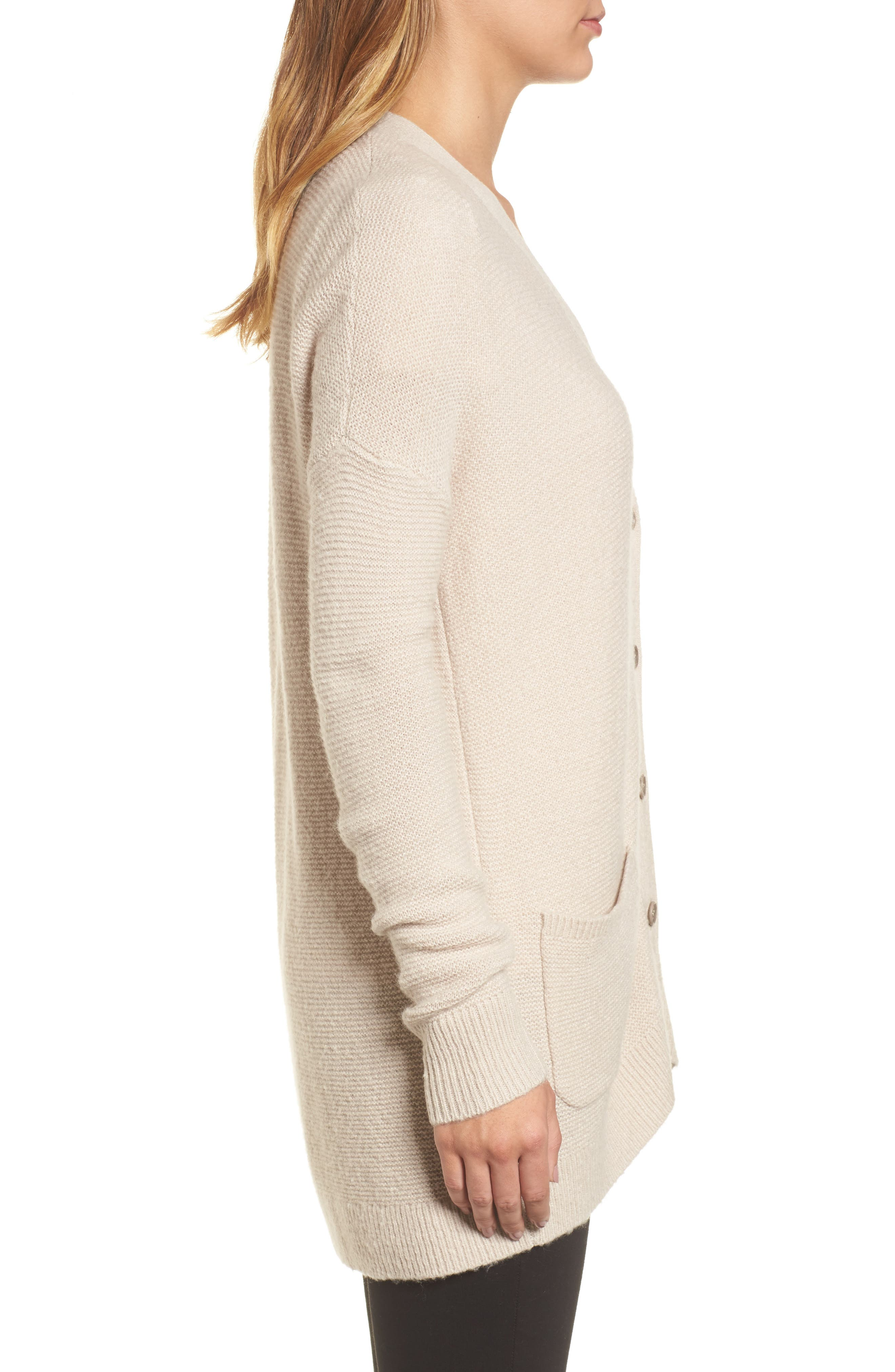 Relaxed Boyfriend Cardigan,                             Alternate thumbnail 19, color,