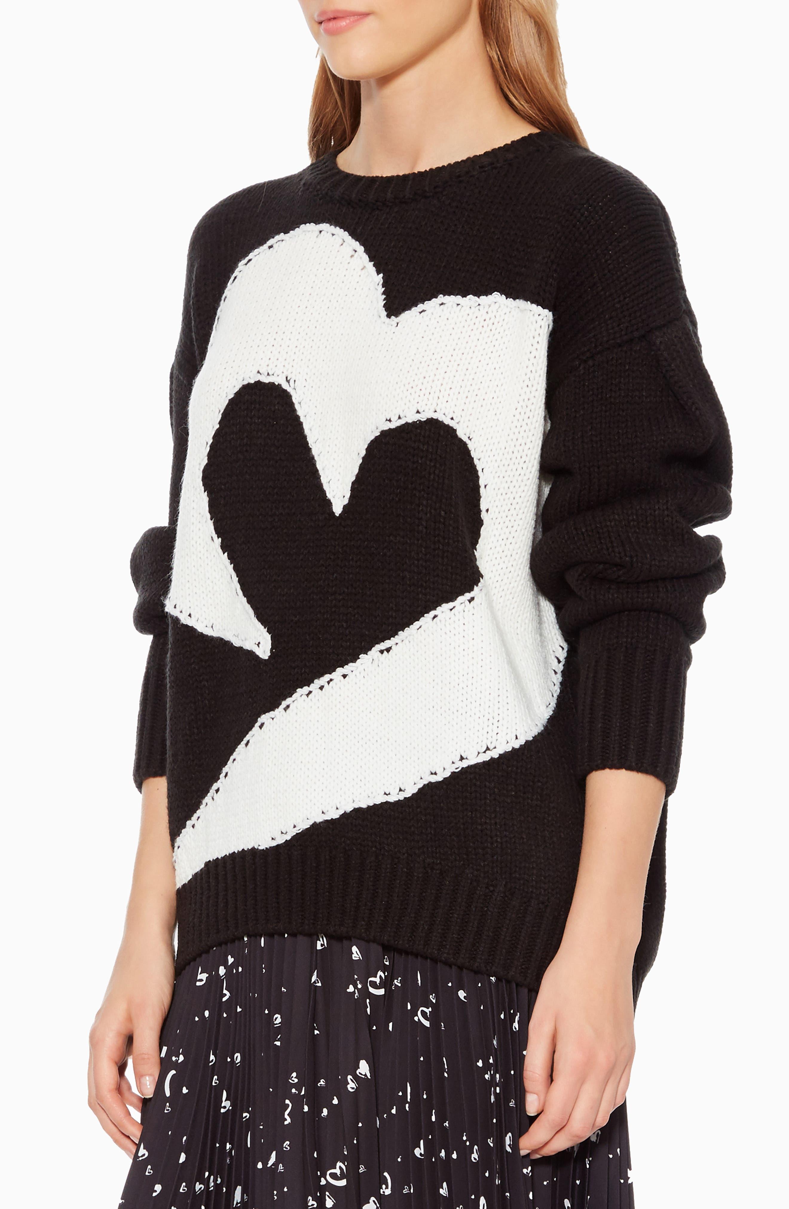 Olive Sweater,                             Alternate thumbnail 3, color,                             BLACK IVORY