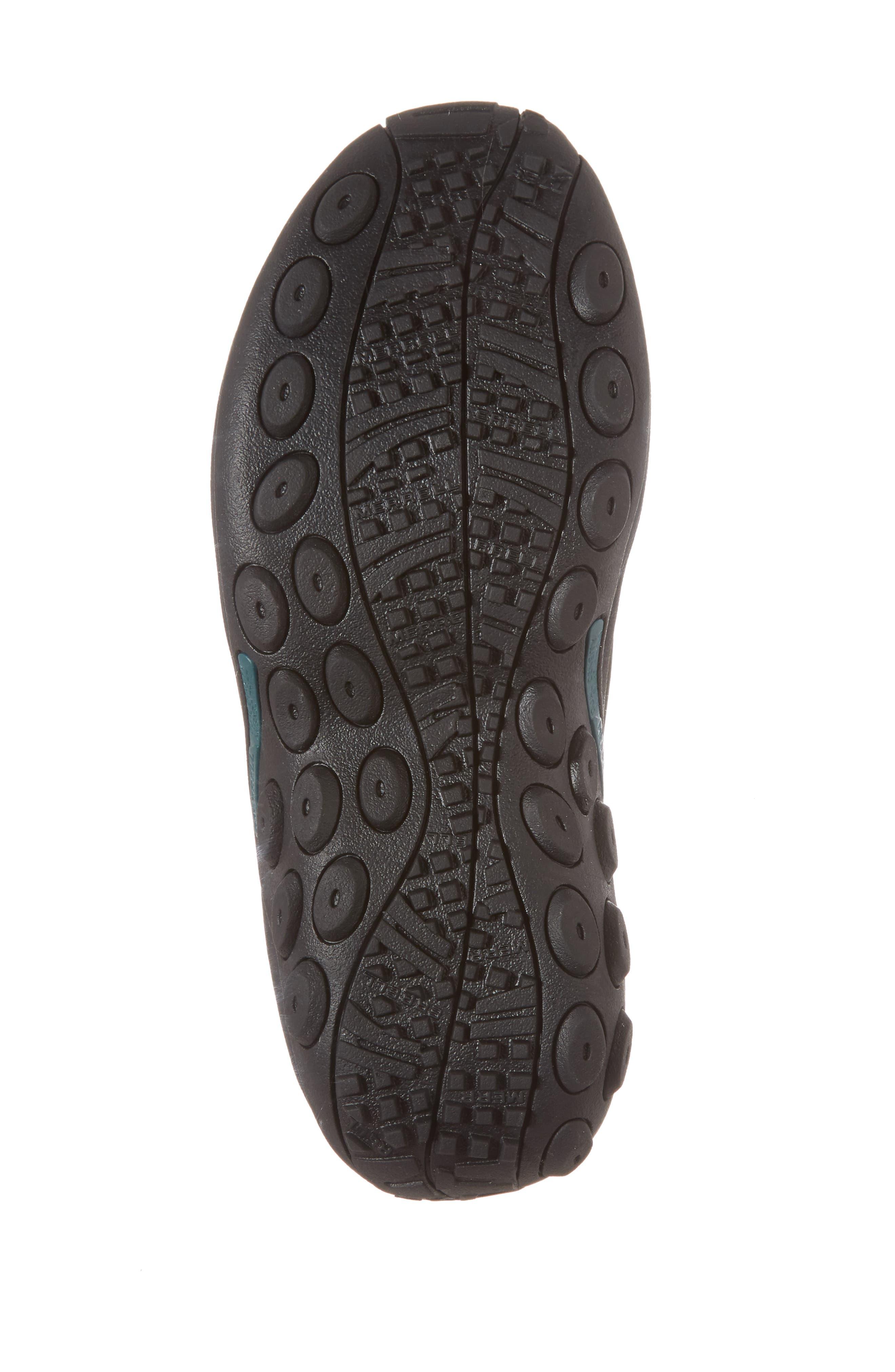 Jungle Moc Nubuck Sneaker,                             Alternate thumbnail 6, color,                             BLACK LEATHER