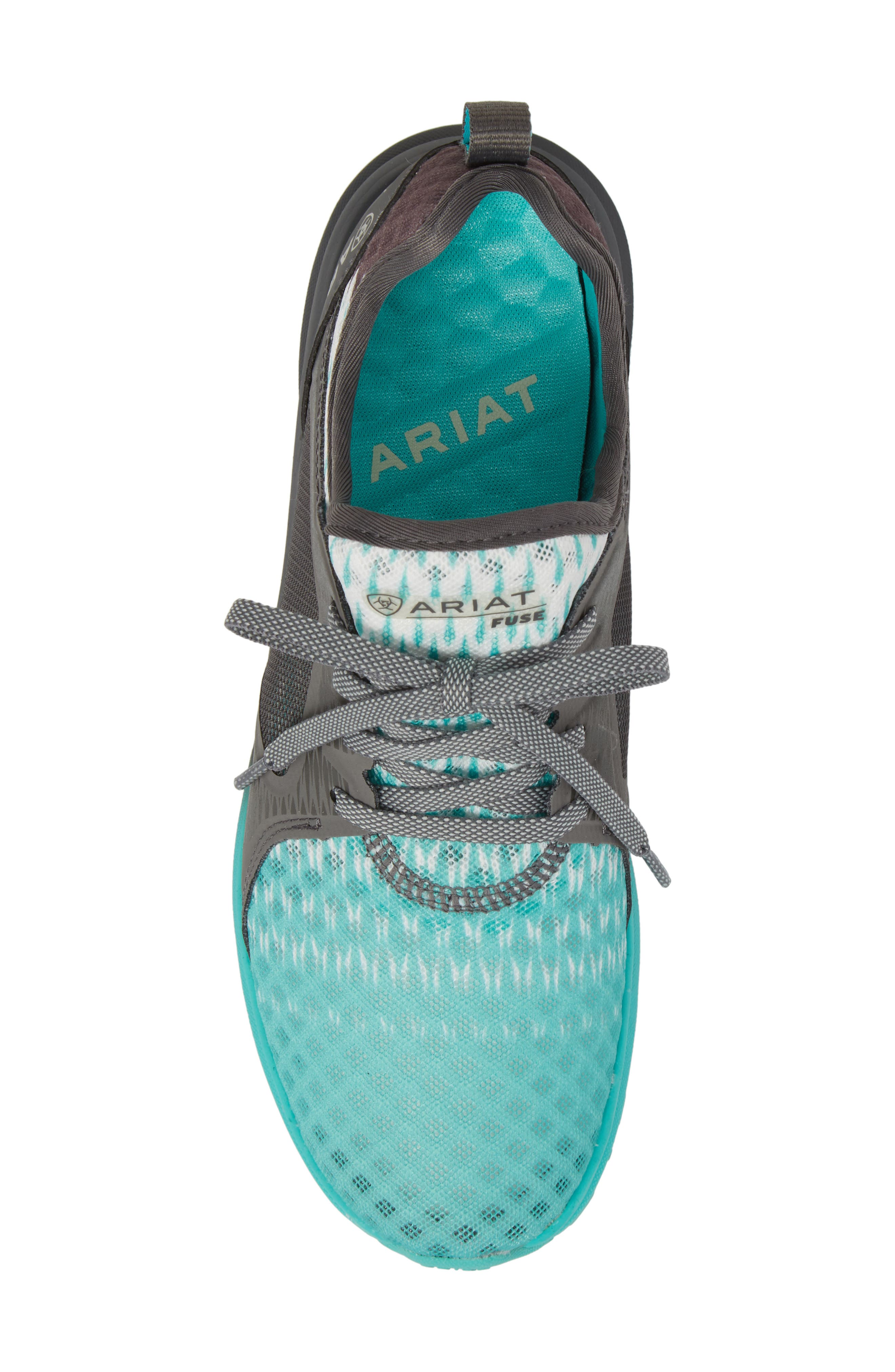 Fuse Ombré Sneaker,                             Alternate thumbnail 5, color,                             TURQUOISE MESH
