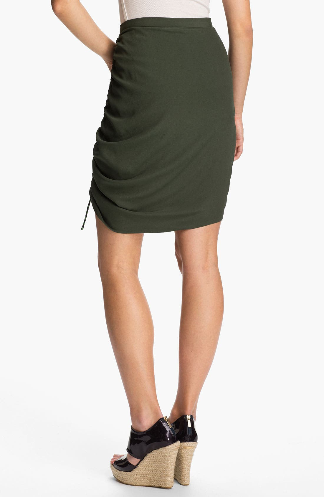 Side Ruched Crepe Skirt,                             Alternate thumbnail 2, color,                             250