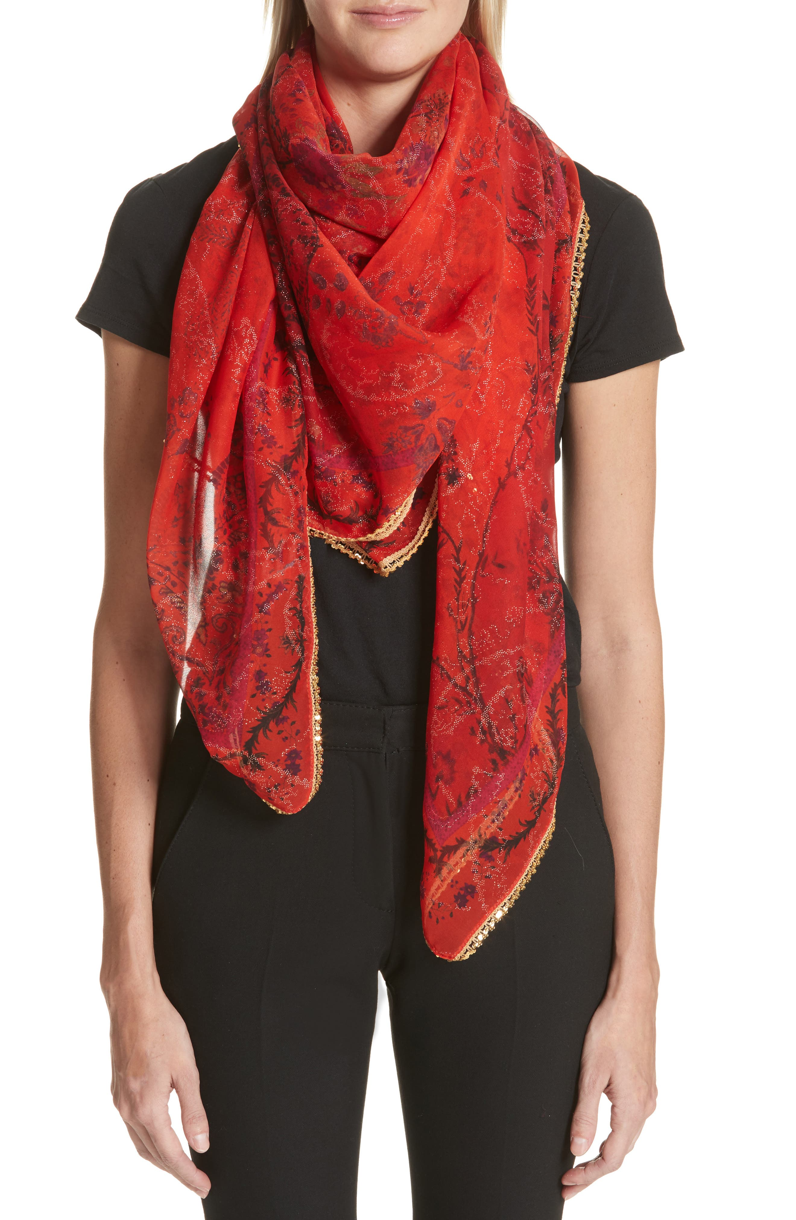 Bombay Silk Scarf,                             Main thumbnail 1, color,                             600