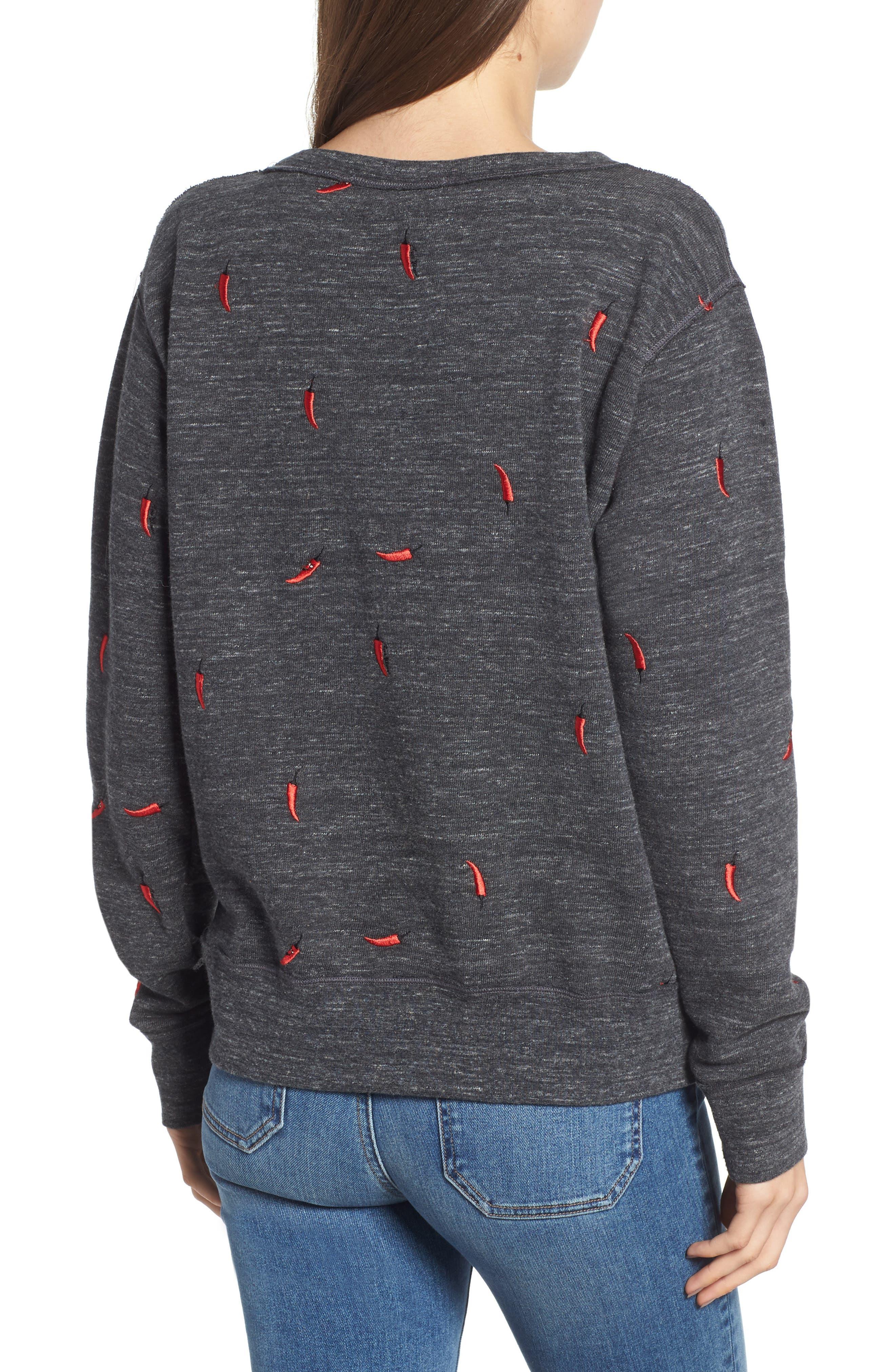Chili Pepper Crewneck Sweatshirt,                             Alternate thumbnail 2, color,                             021