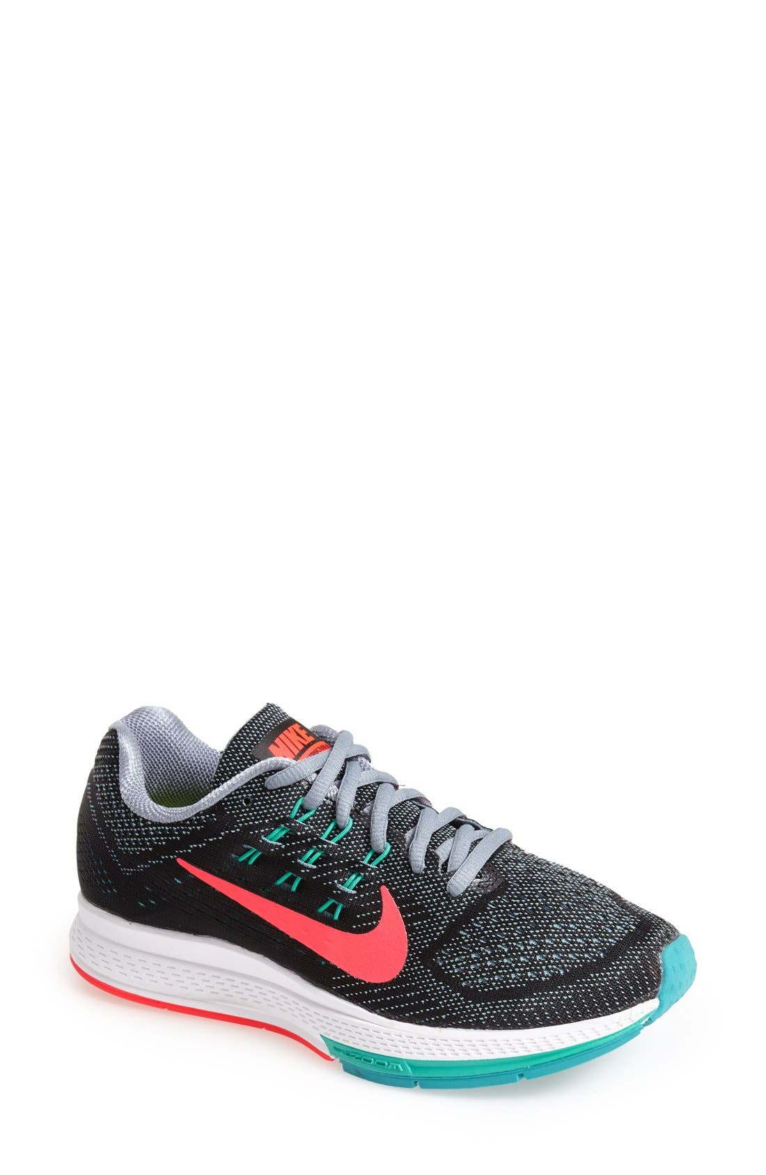 NIKE,                             'Air Zoom Structure 18' Running Shoe,                             Main thumbnail 1, color,                             001