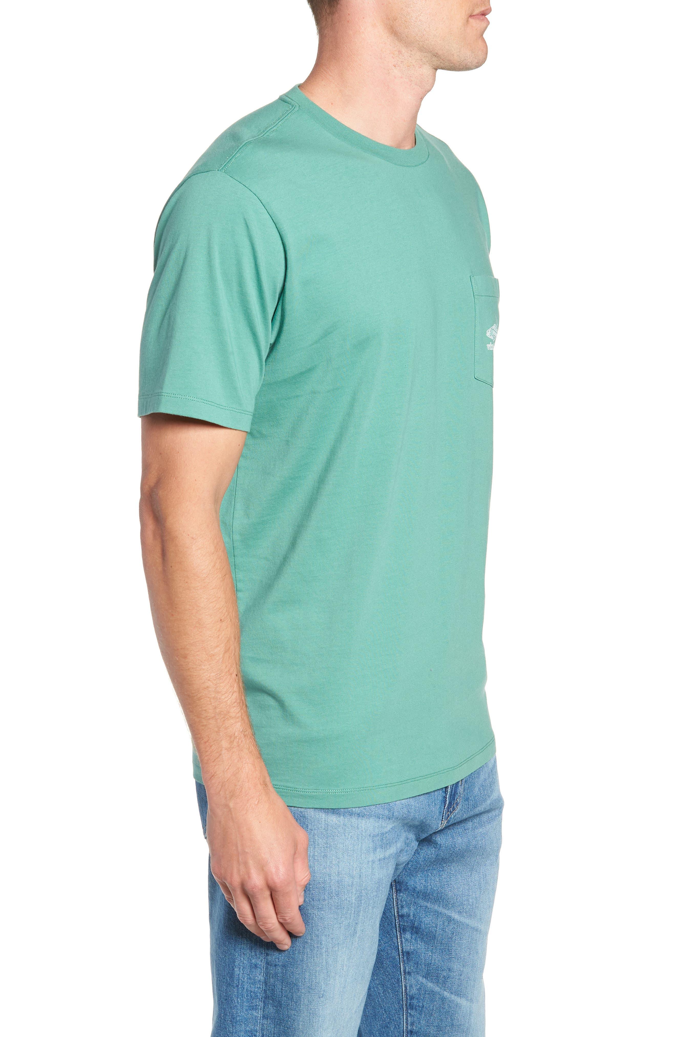 Linear Bluefish Pocket T-Shirt,                             Alternate thumbnail 3, color,                             324