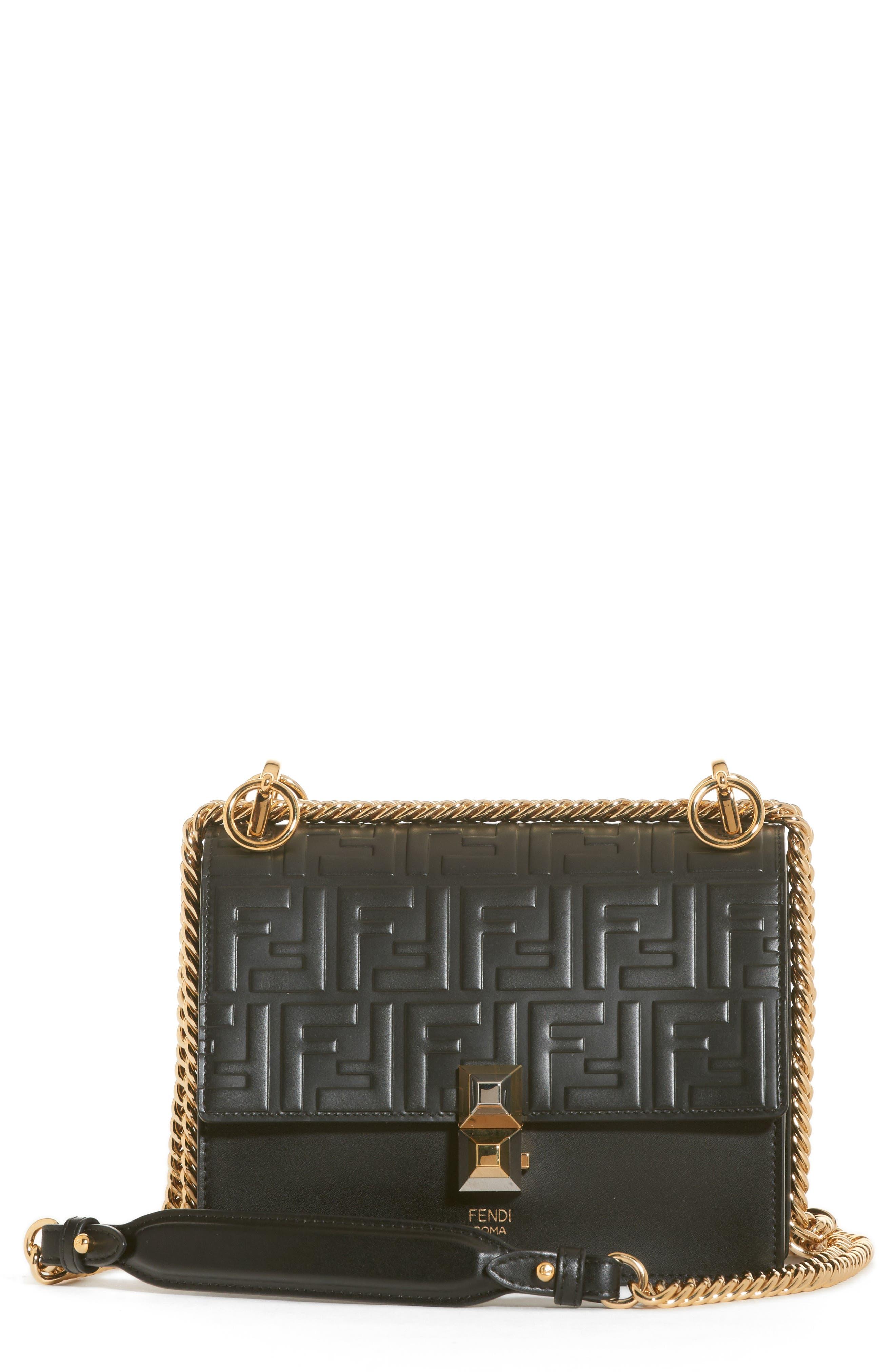 Small Kan I Liberty Leather Shoulder Bag,                             Main thumbnail 1, color,                             006