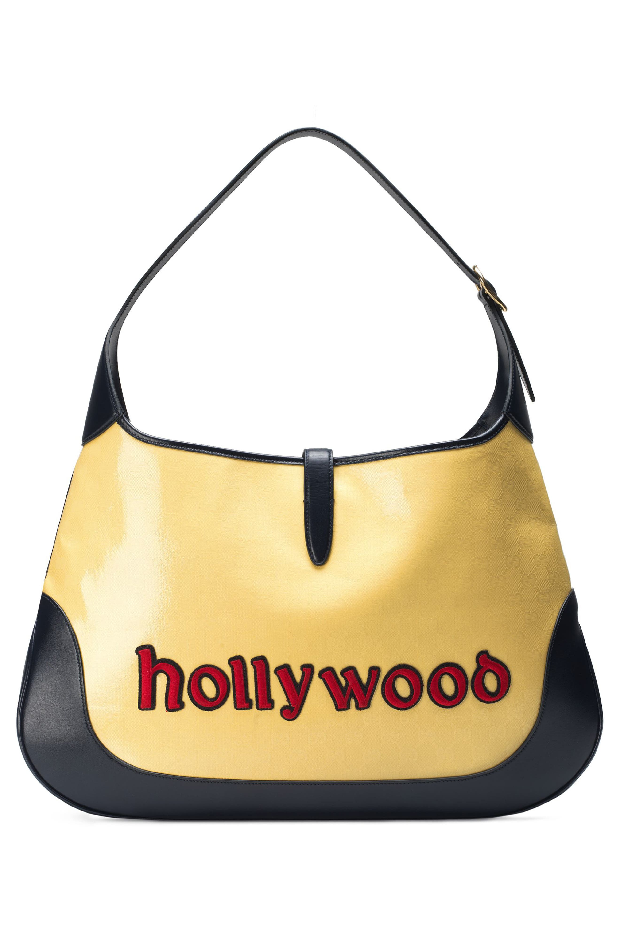 Maxi Jackie Chateau Marmont GG Hobo,                             Alternate thumbnail 2, color,                             STRAW YELLOW/ BLU/ RED