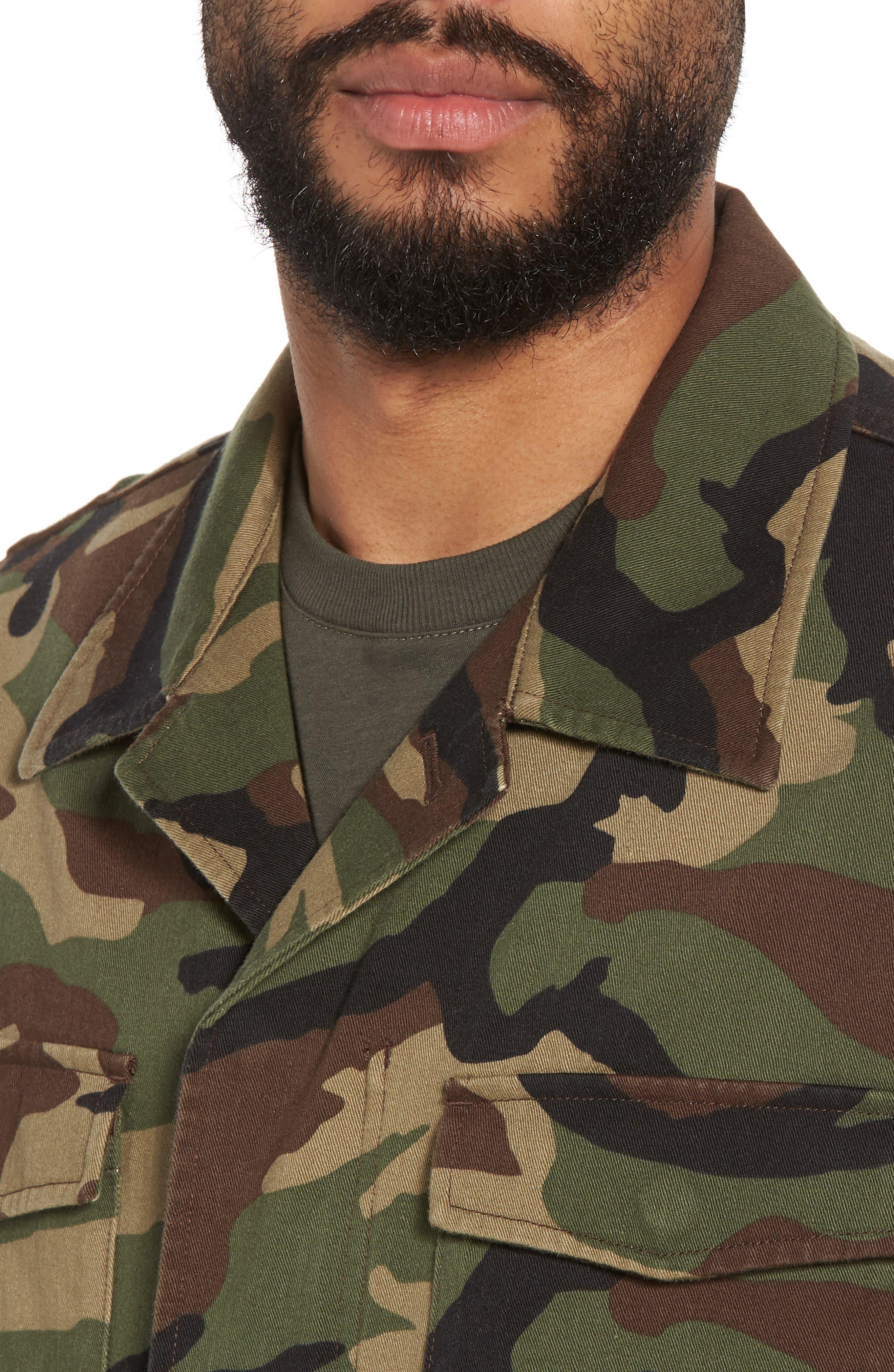 Slim Fit Camo Jacket,                             Alternate thumbnail 4, color,                             300