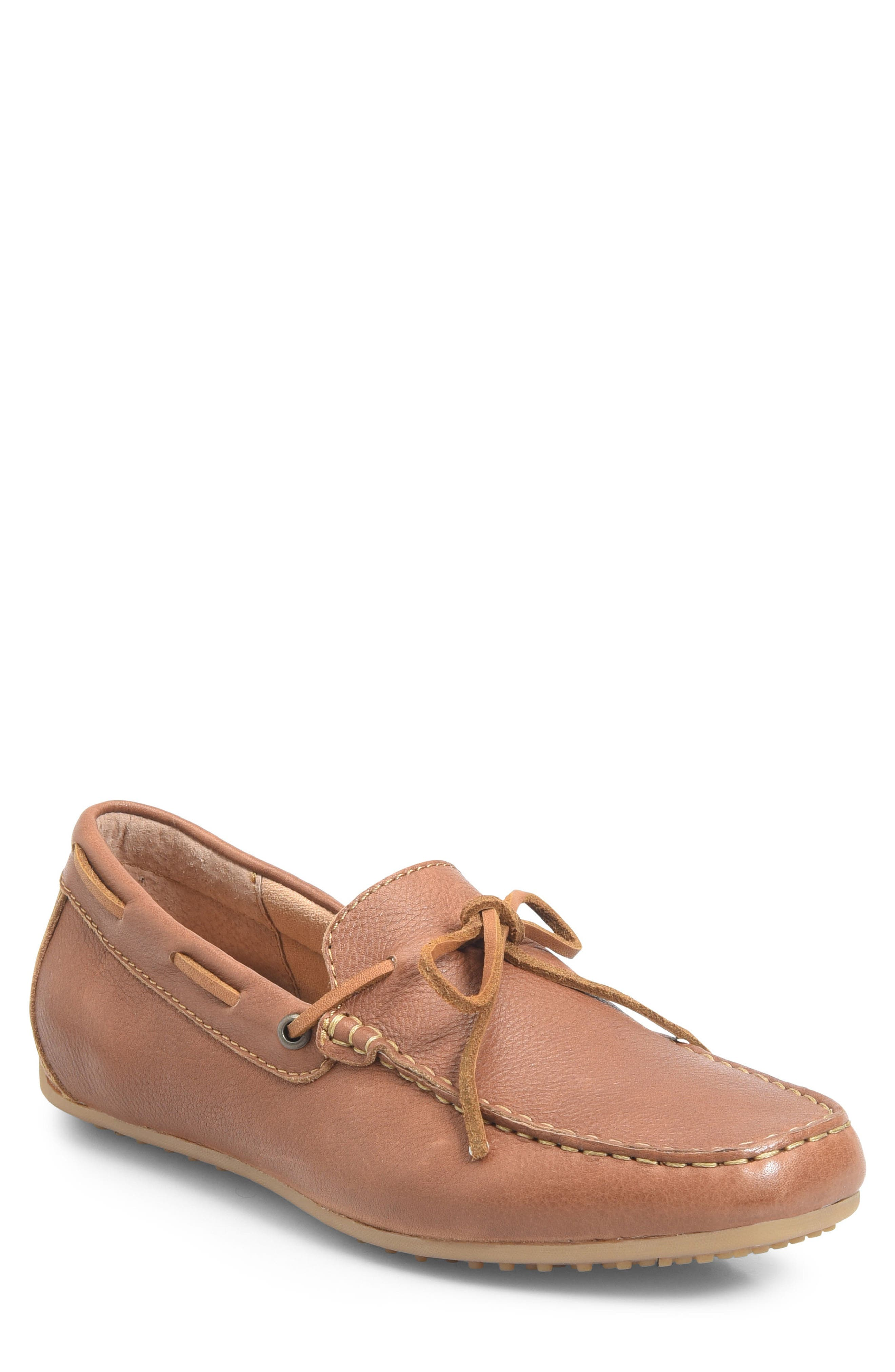 Virgo Driving Shoe,                             Main thumbnail 1, color,                             BROWN LEATHER
