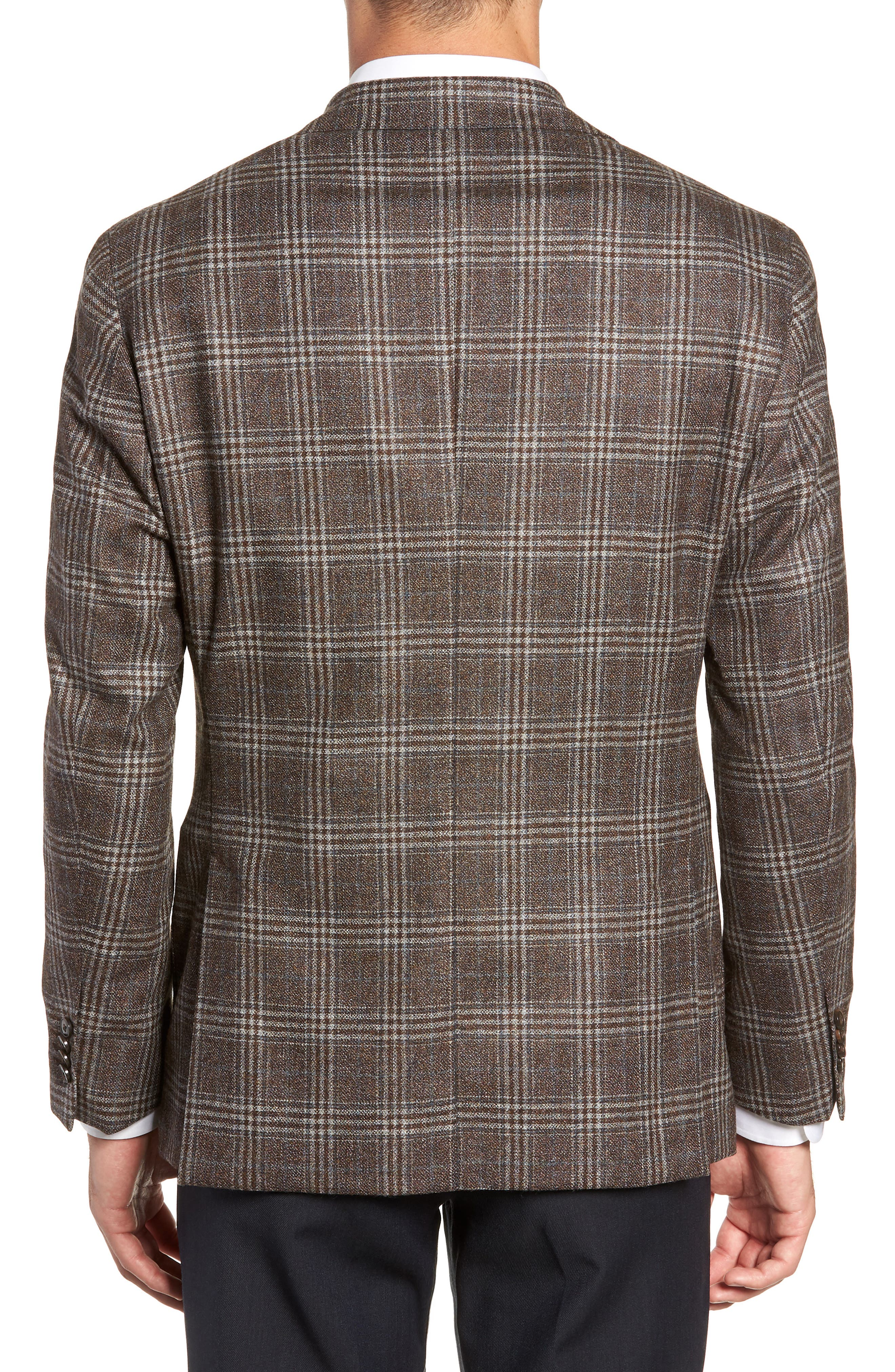 L.B.M 1911 Classic Fit Plaid Wool Sport Coat,                             Alternate thumbnail 2, color,                             BROWN