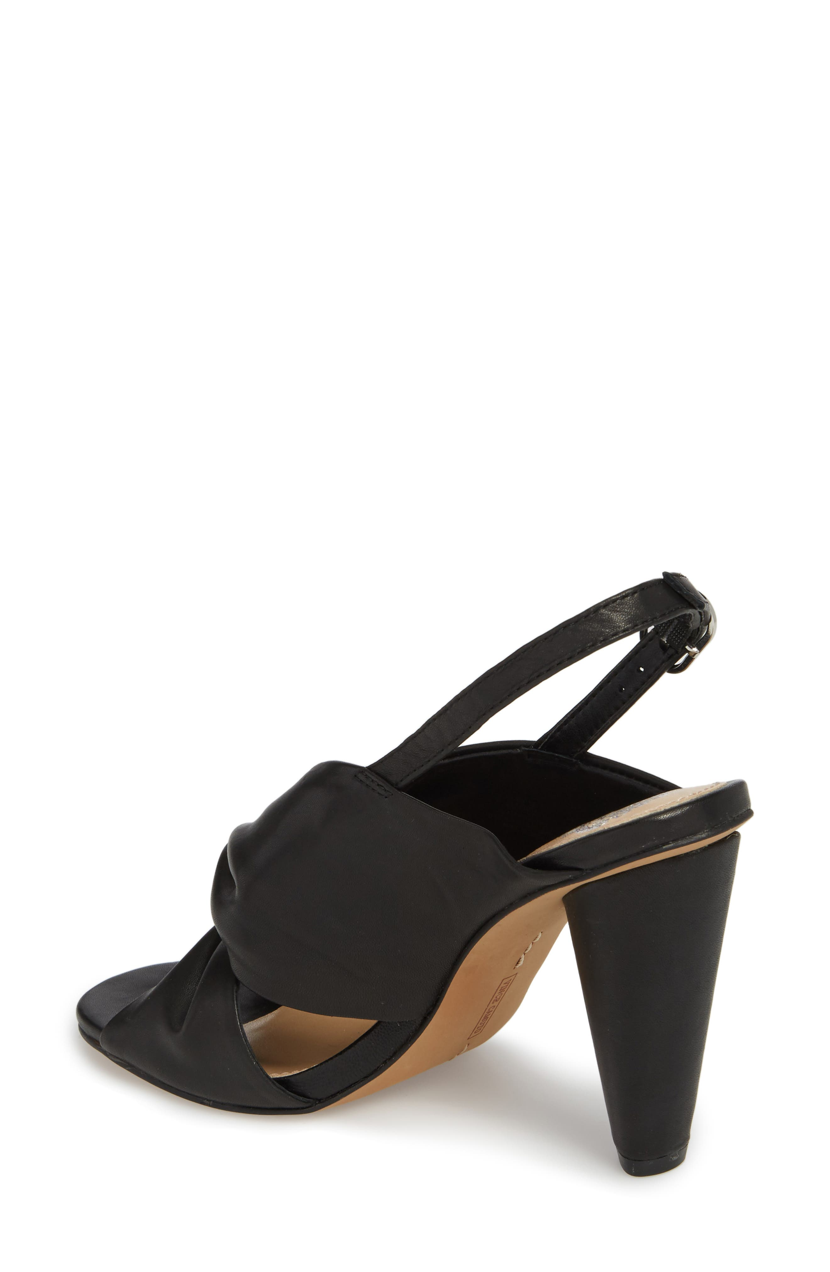 Kattie Slingback Sandal,                             Alternate thumbnail 2, color,                             BLACK LEATHER