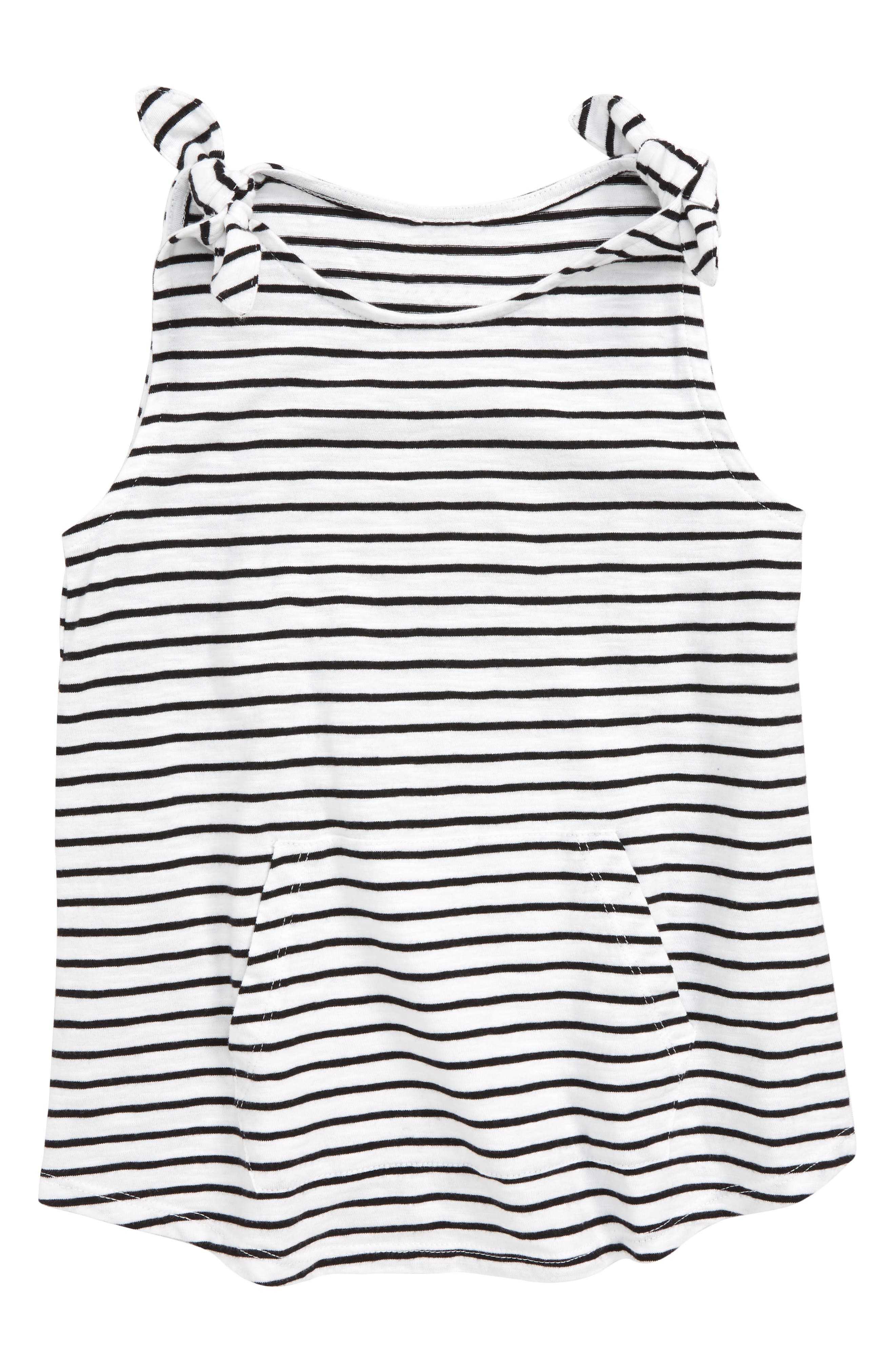 Stripe Knotted Tank,                         Main,                         color, 100