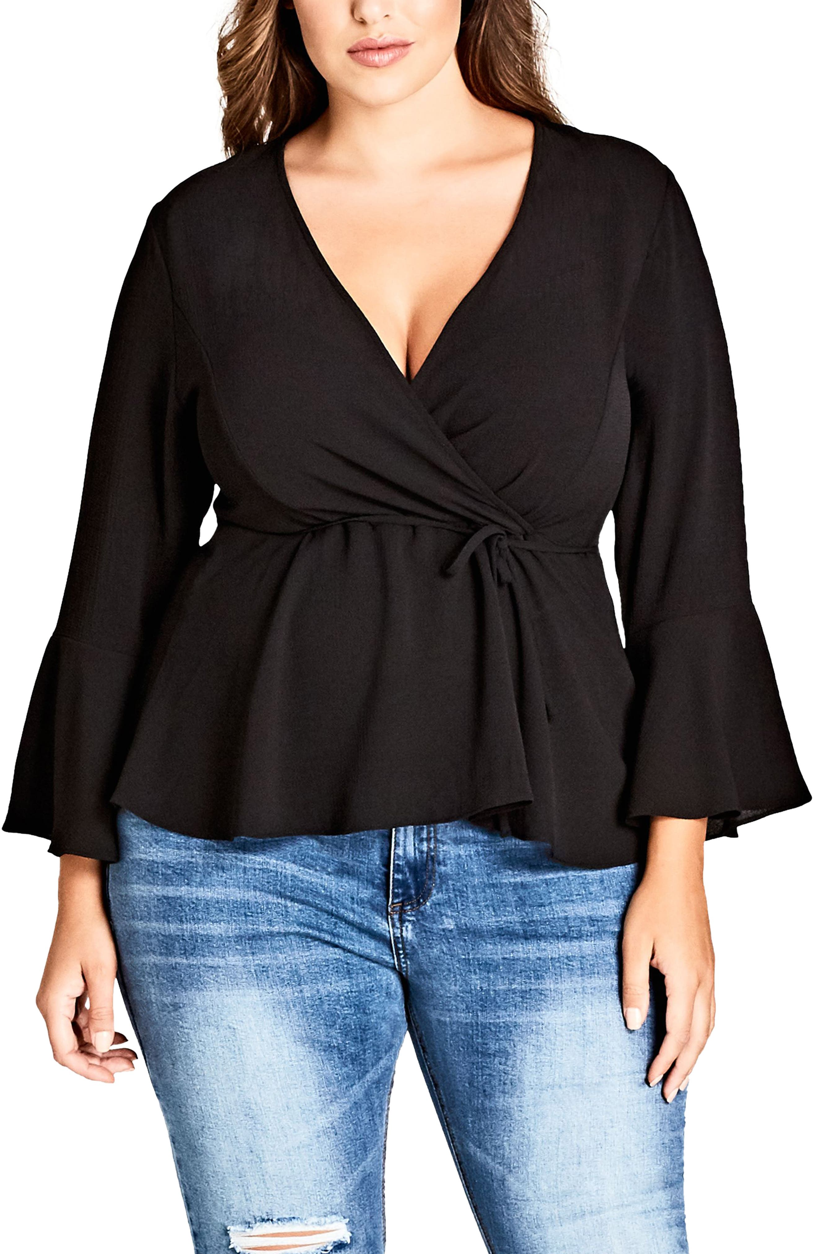 Sweetly Tied Top,                             Main thumbnail 1, color,                             BLACK