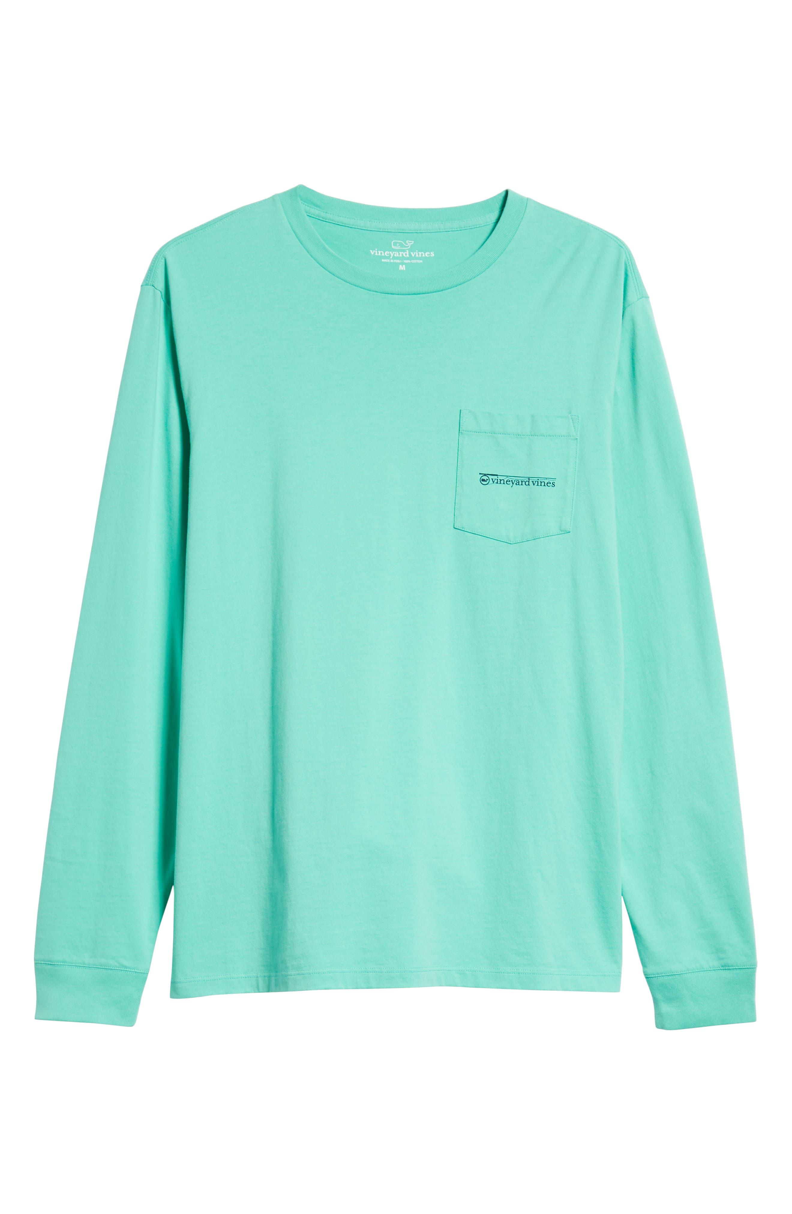 Fishing Rod Pocket T-Shirt,                             Alternate thumbnail 6, color,                             CAPRI BLUE