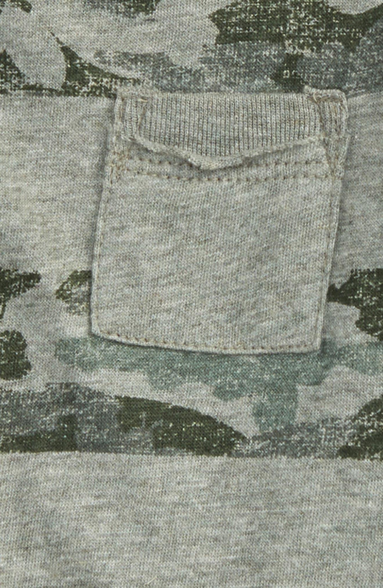 Camo Print Organic Cotton Pocket T-Shirt,                             Alternate thumbnail 2, color,                             307