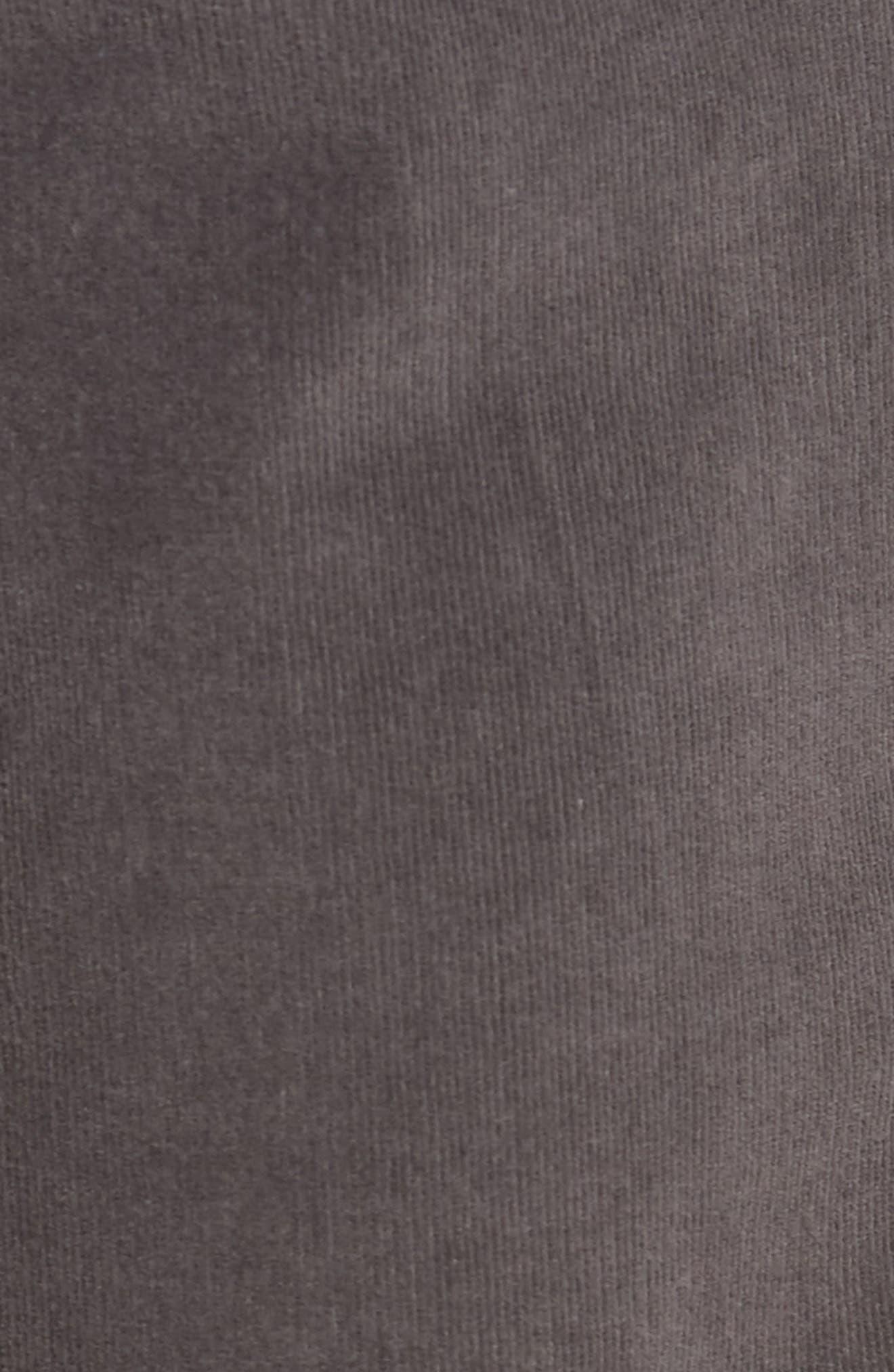 VINTAGE 1946,                             Modern Fit Stretch Corduroy Pants,                             Alternate thumbnail 5, color,                             CHARCOAL