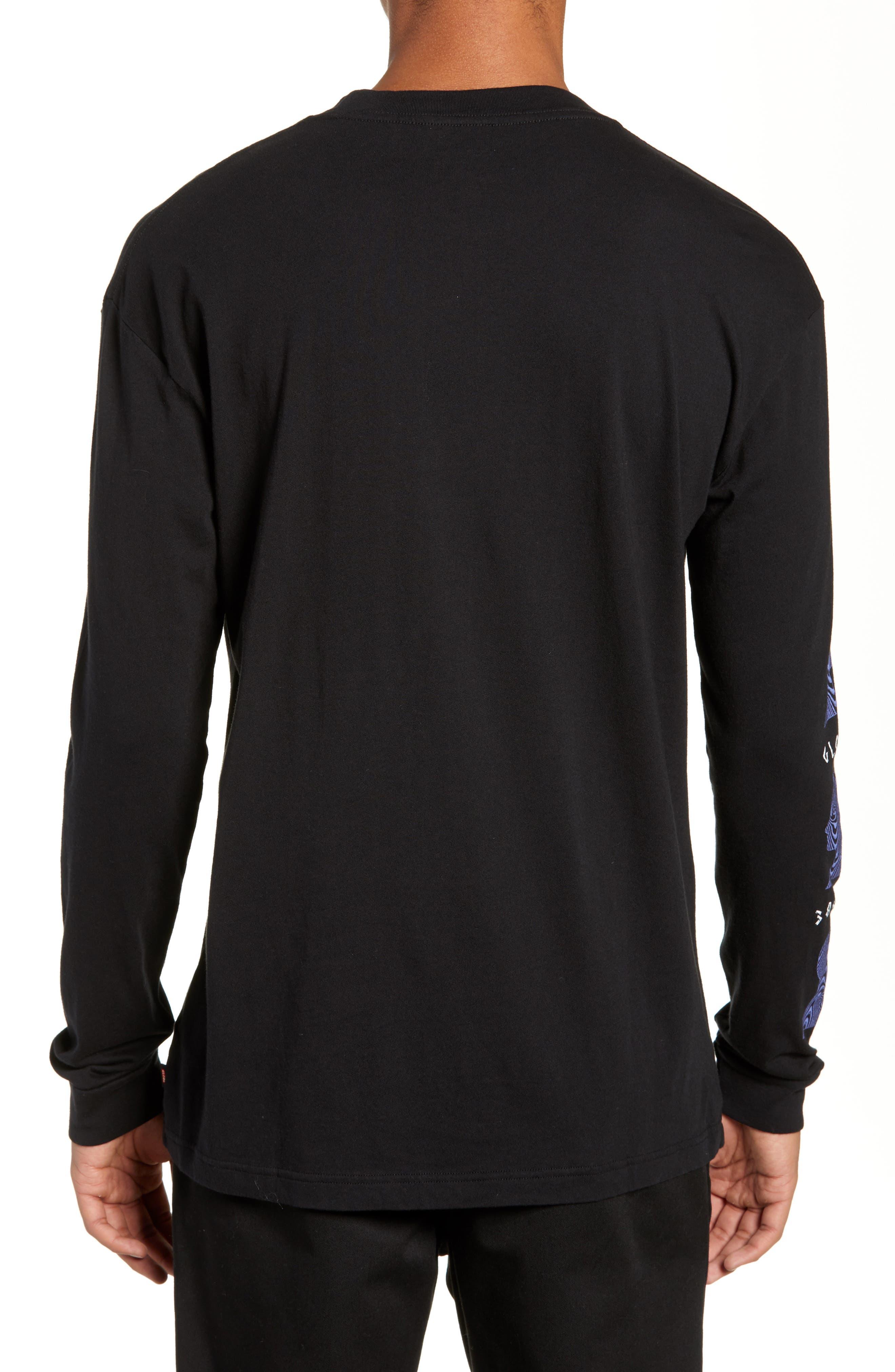 Oracle Long Sleeve T-Shirt,                             Alternate thumbnail 2, color,                             BLACK
