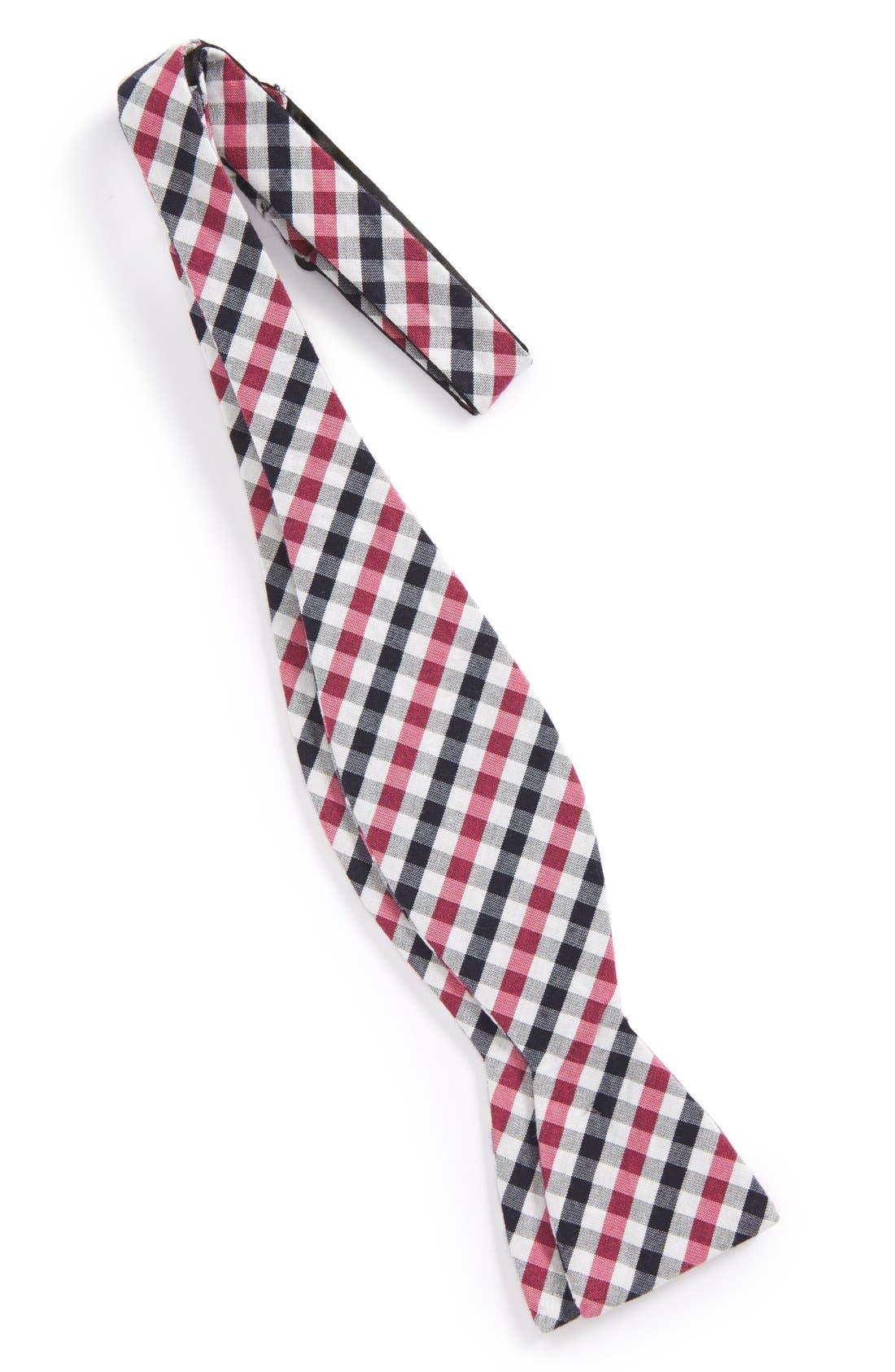 'Bloomquist' Check Silk Blend Bow Tie,                             Alternate thumbnail 8, color,