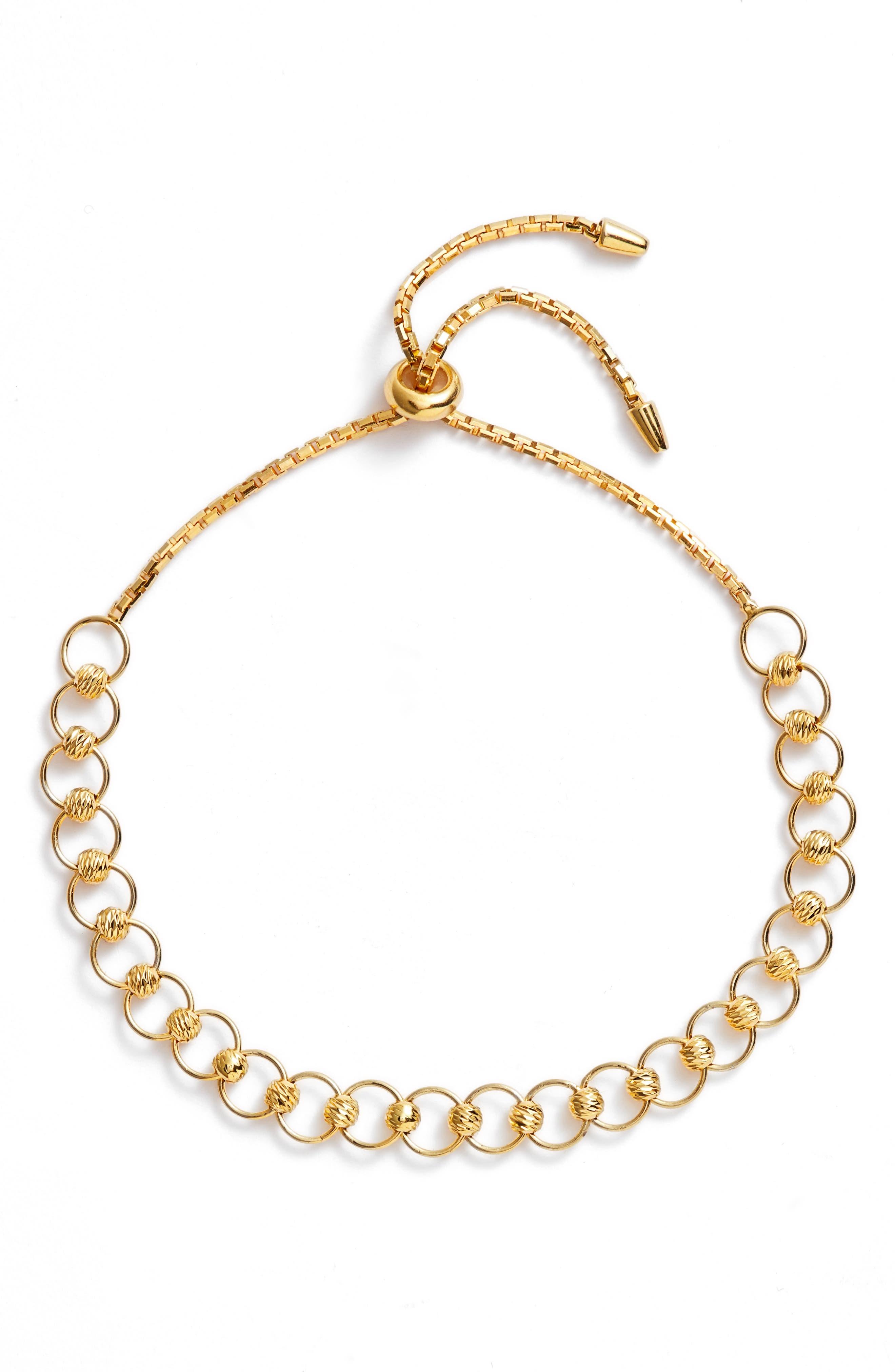 Dainty Sphere Slider Bracelet,                         Main,                         color, 710