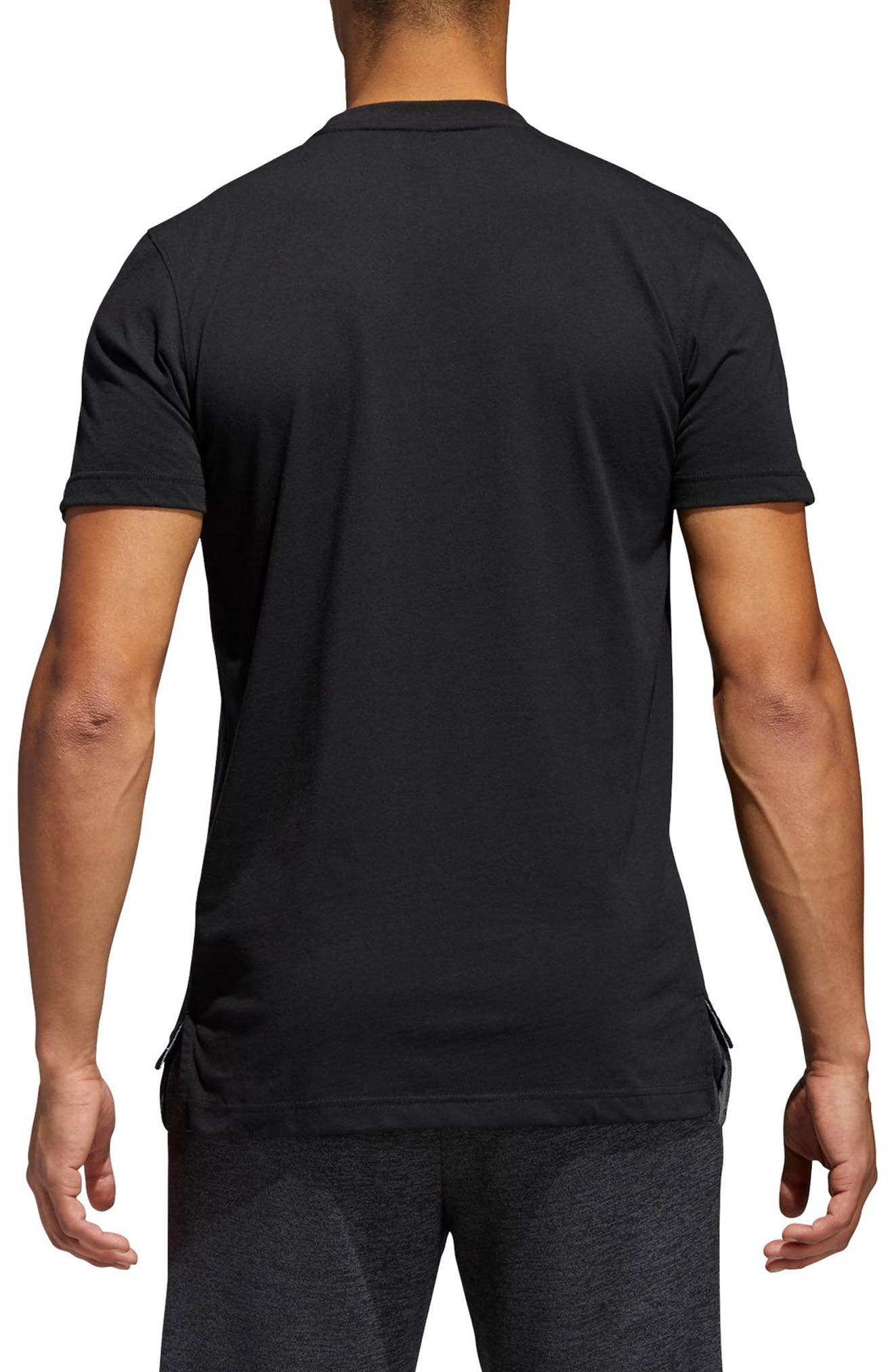 Crewneck T-Shirt,                             Alternate thumbnail 2, color,                             001