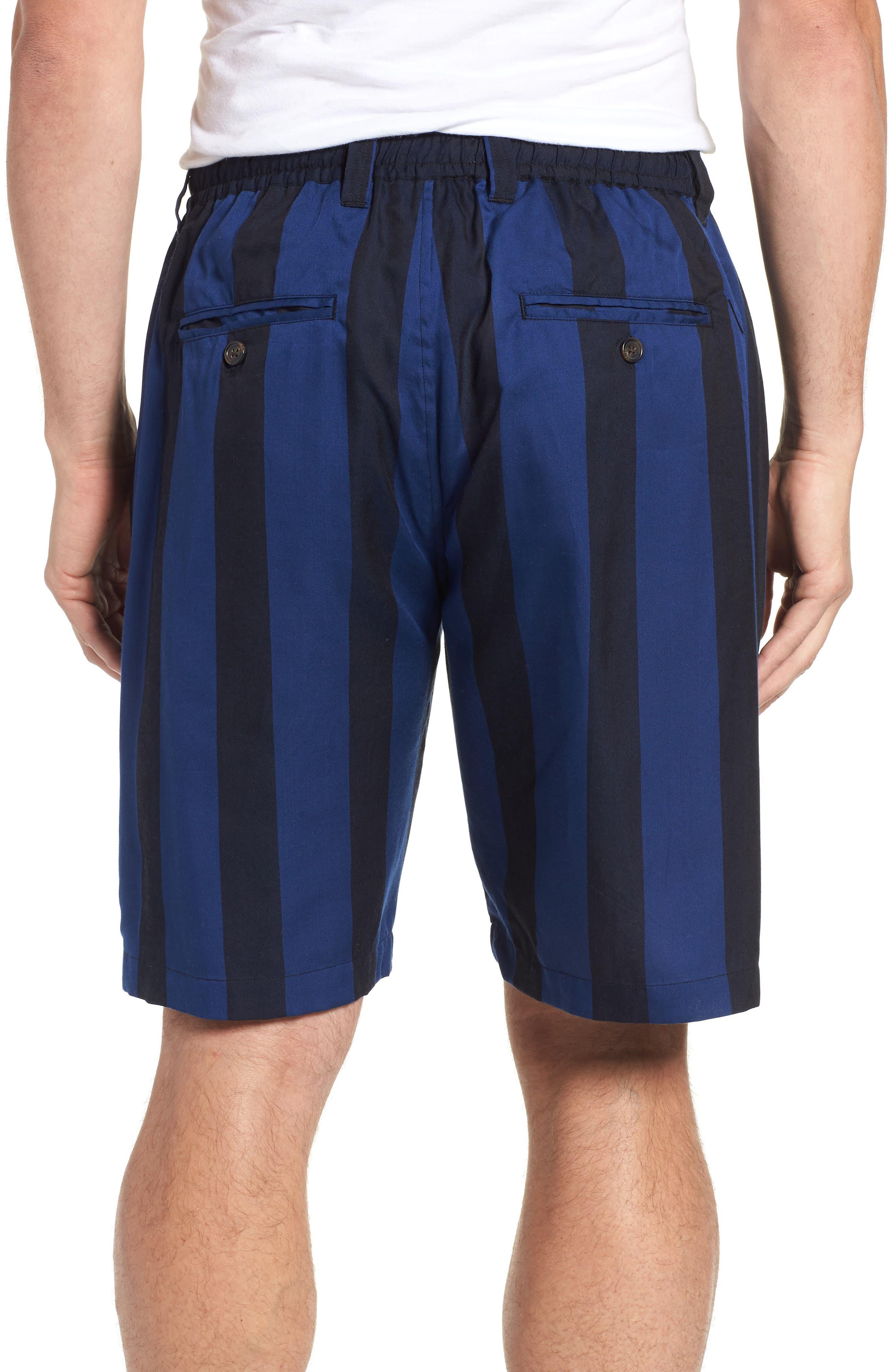 Keigo Broad Stripe Shorts,                             Alternate thumbnail 2, color,                             COBALT