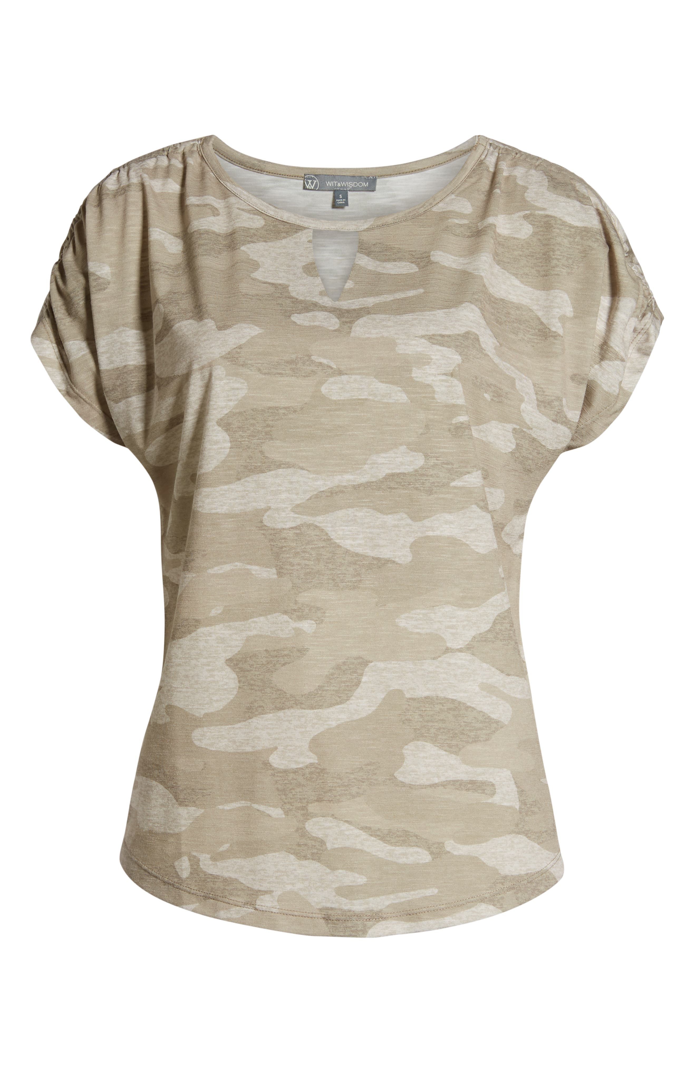 Scoop Neck Tee,                             Alternate thumbnail 6, color,                             TAN