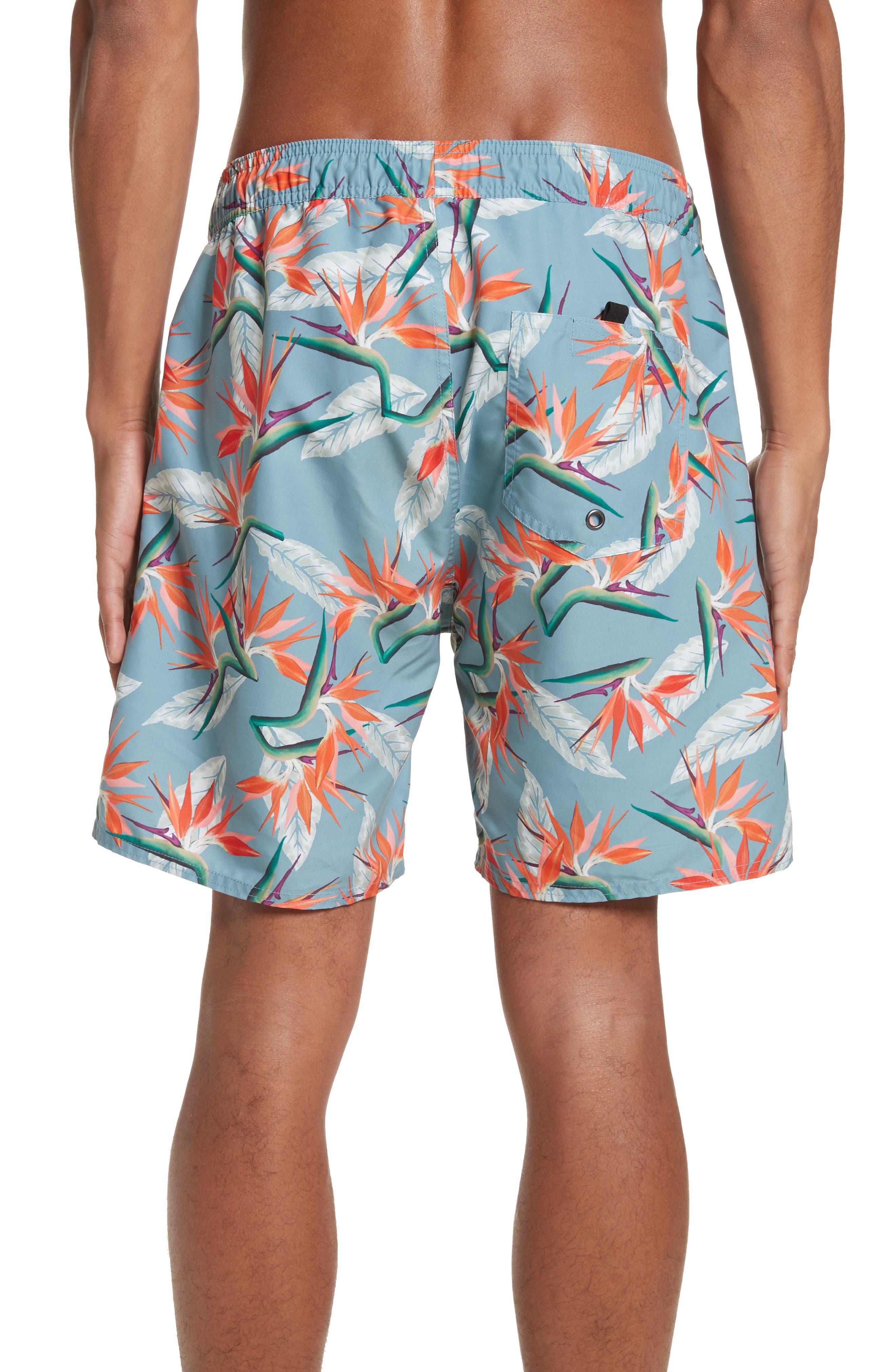 Timothy Paradise Swim Shorts,                             Alternate thumbnail 2, color,                             PARADISE PRINT