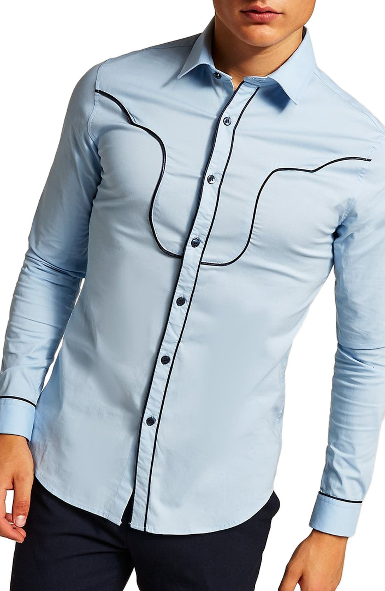 Classic Fit Western Sport Shirt,                         Main,                         color, 450